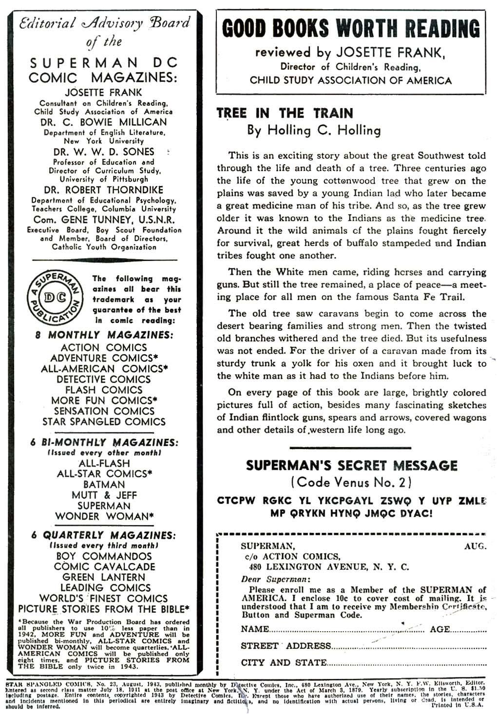 Comic Star Spangled Comics (1941) issue 23