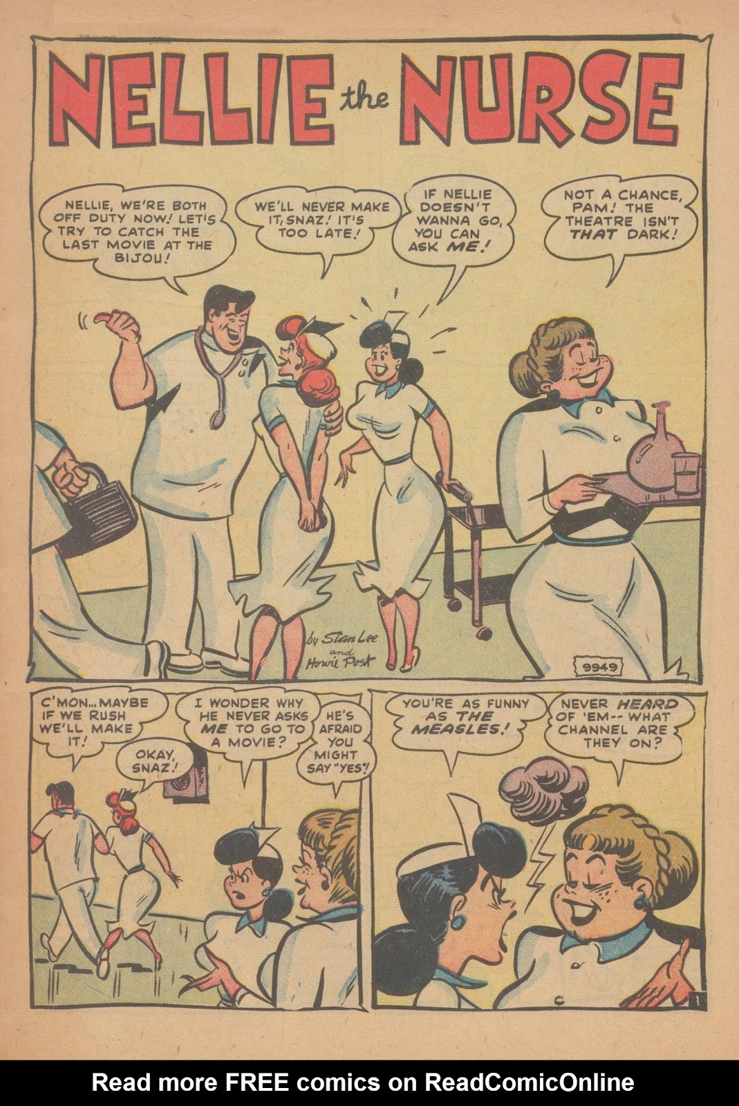 Read online Nellie The Nurse (1945) comic -  Issue #34 - 3