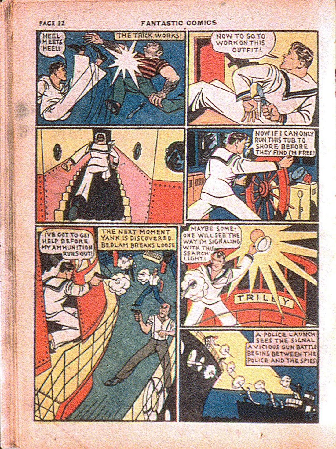 Read online Fantastic Comics comic -  Issue #7 - 34