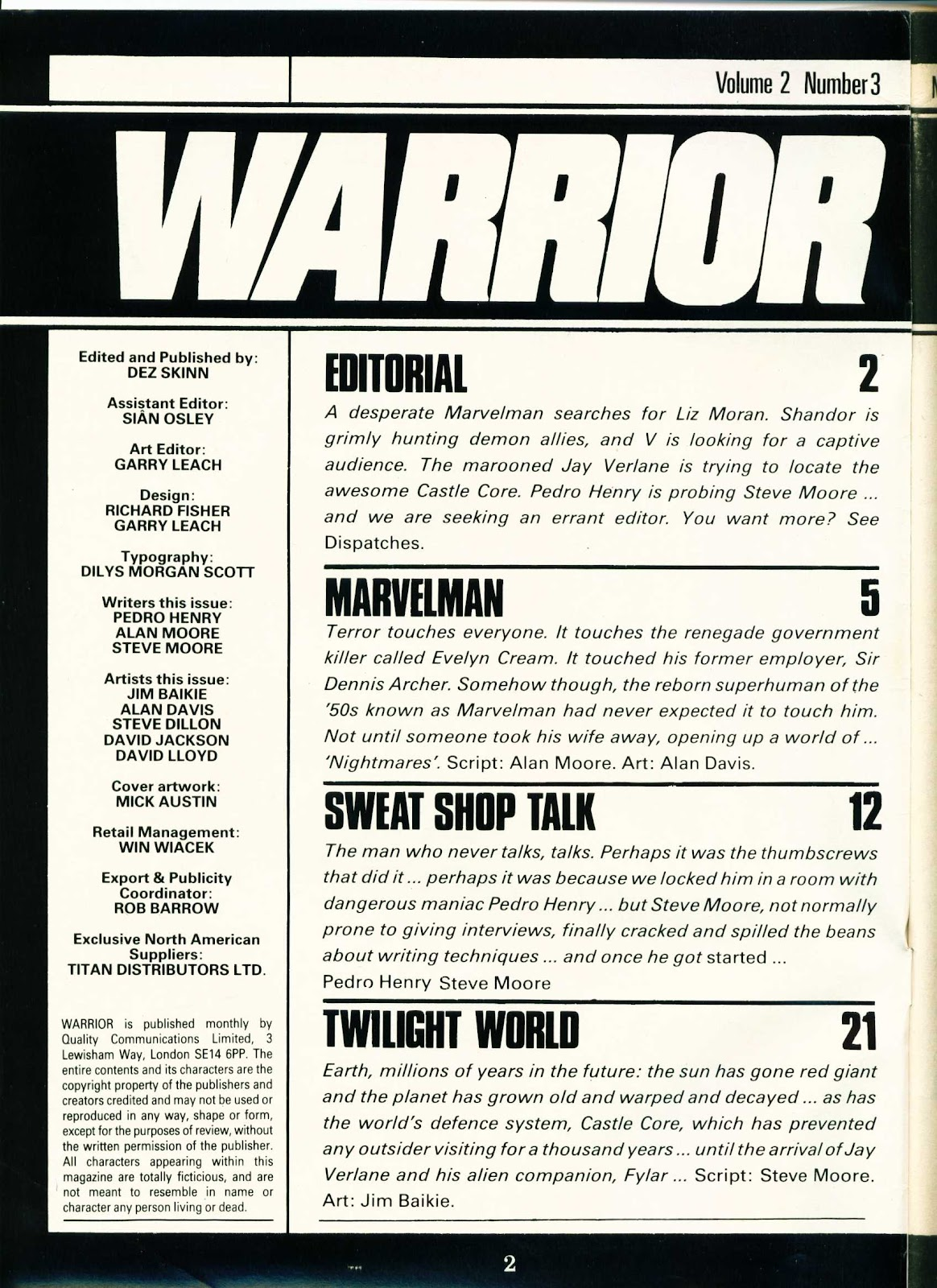Warrior Issue #15 #16 - English 2