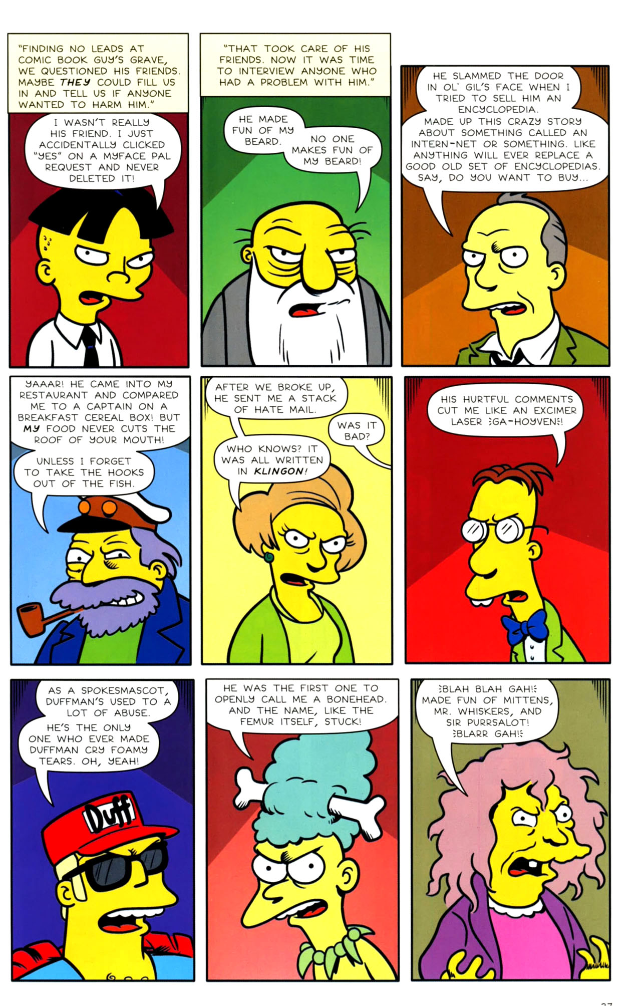 Read online Bongo Comics presents Comic Book Guy: The Comic Book comic -  Issue #4 - 29