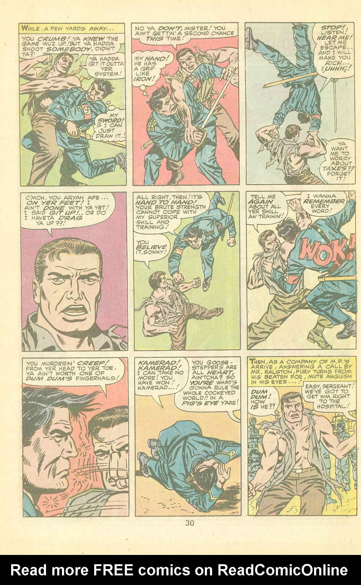 Read online Sgt. Fury comic -  Issue #126 - 32