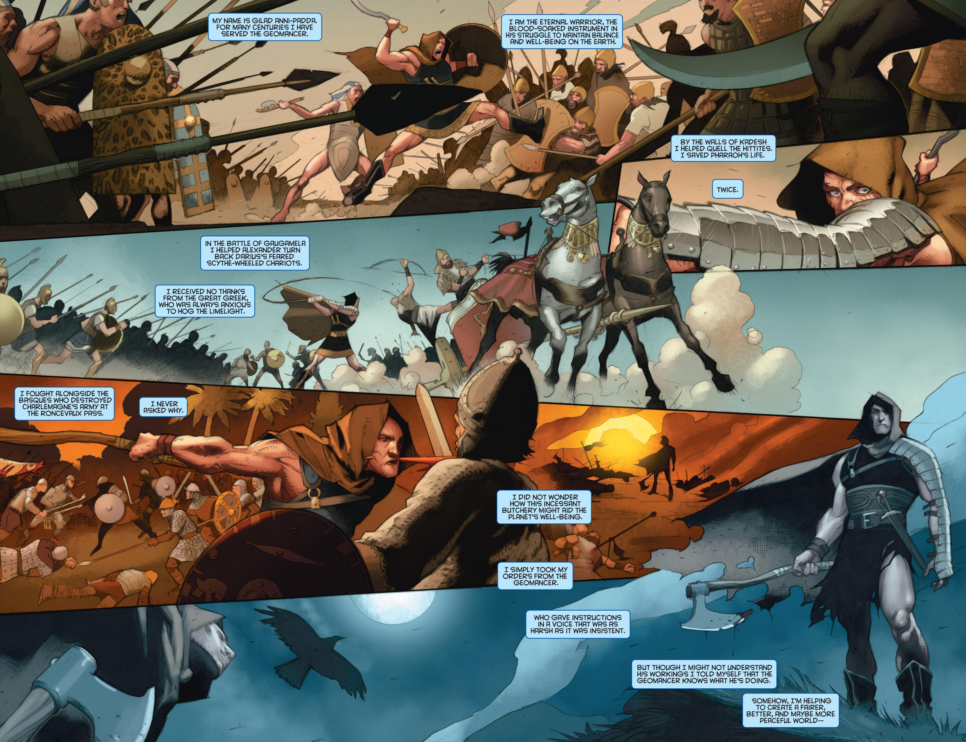 Read online Eternal Warrior: Days of Steel comic -  Issue #1 - 4