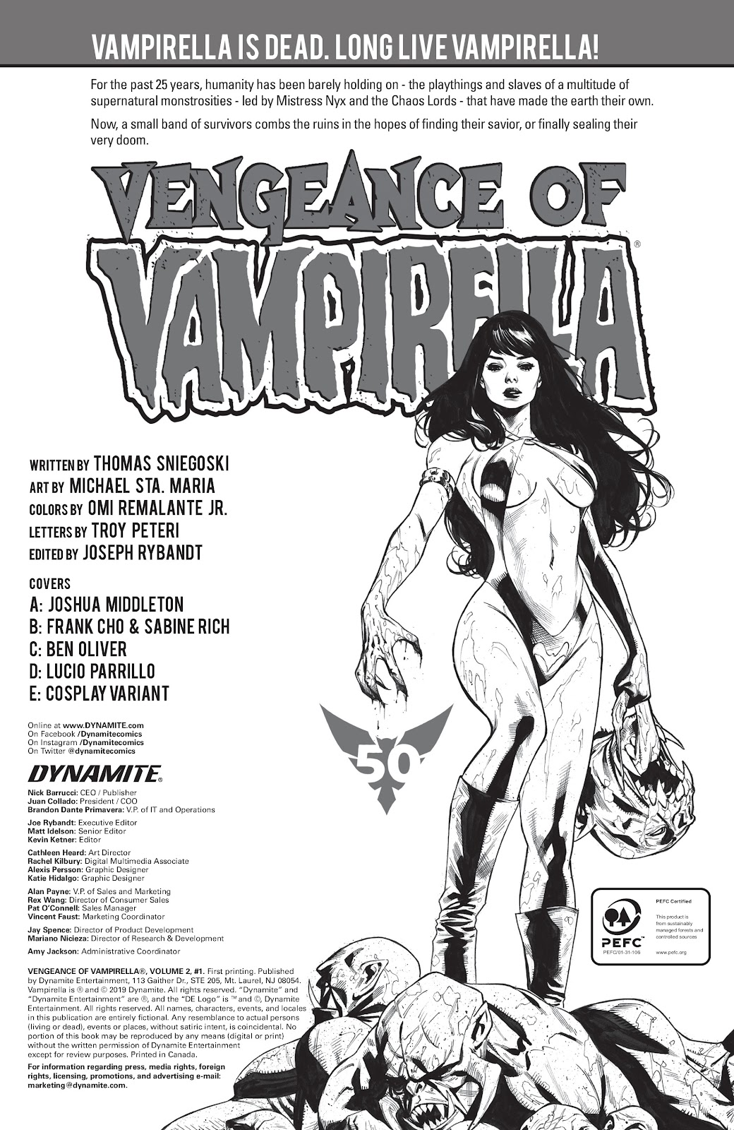 Read online Vengeance of Vampirella (2019) comic -  Issue #1 - 6