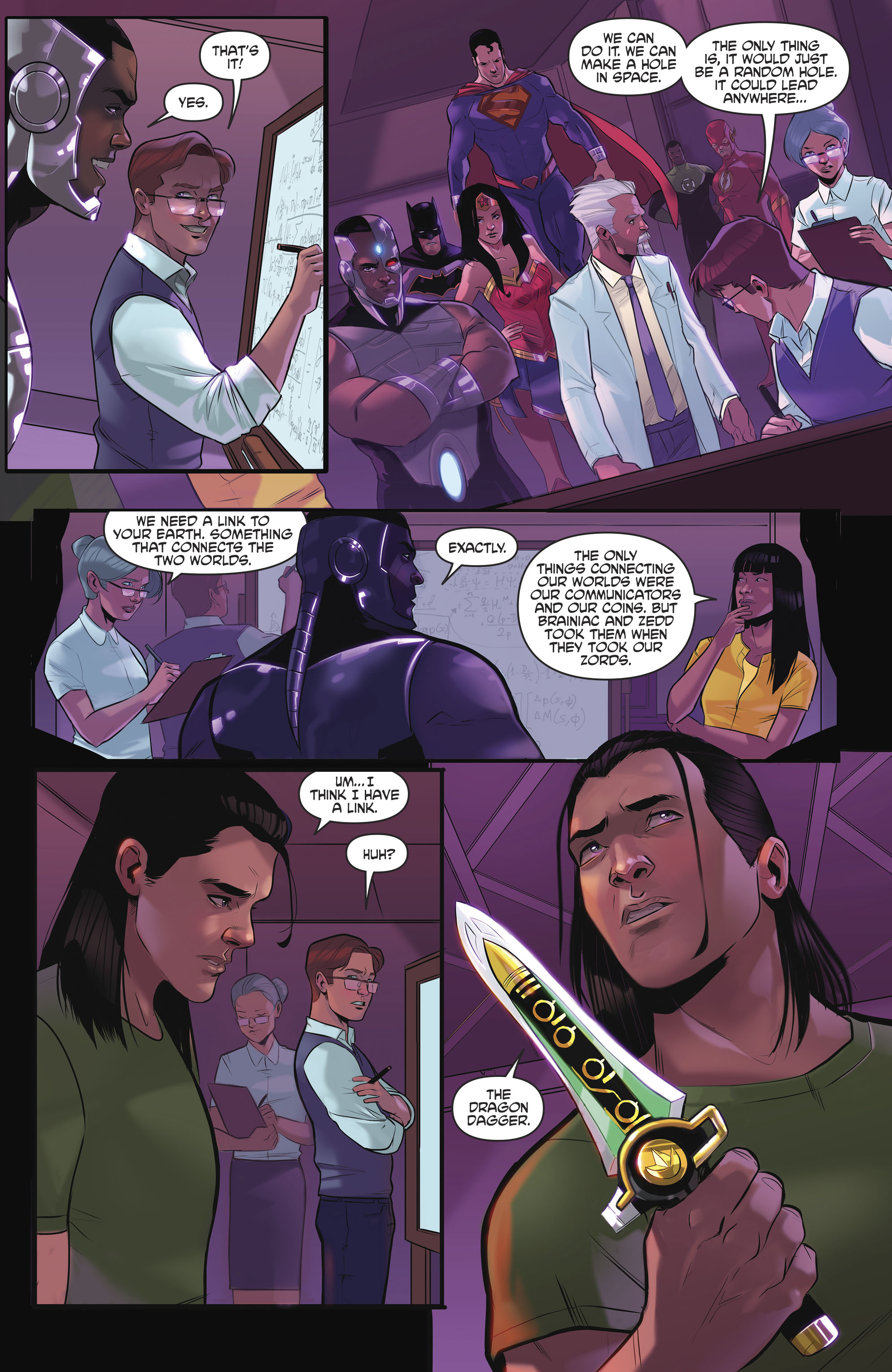 Read online Justice League/Mighty Morphin' Power Rangers comic -  Issue #4 - 4