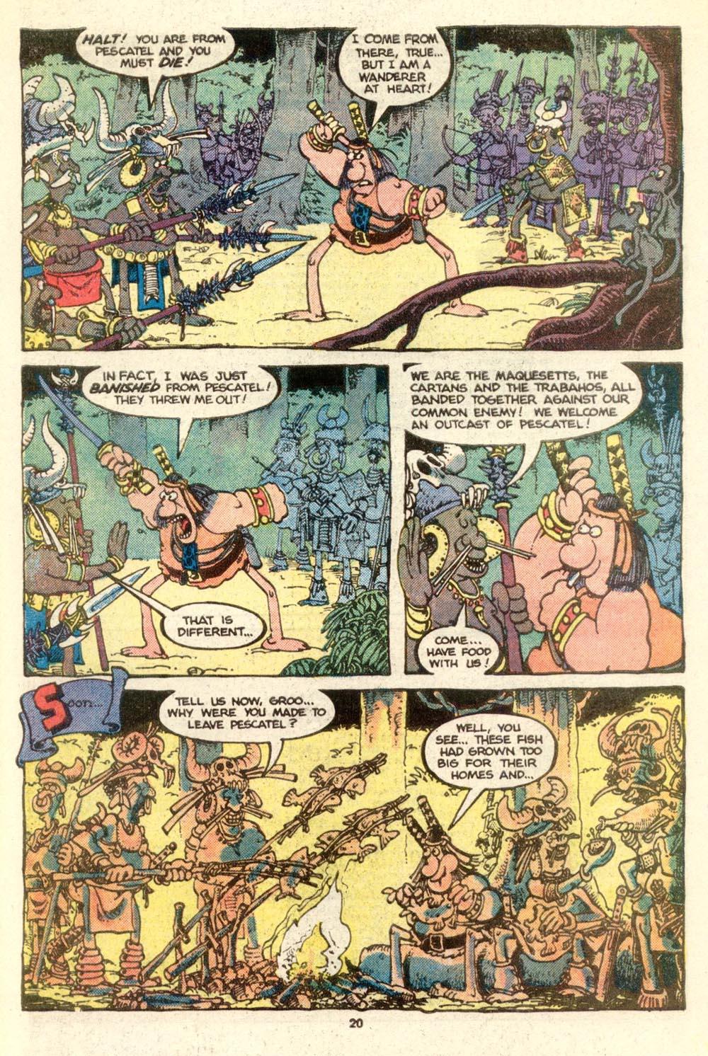 Read online Sergio Aragonés Groo the Wanderer comic -  Issue #17 - 20