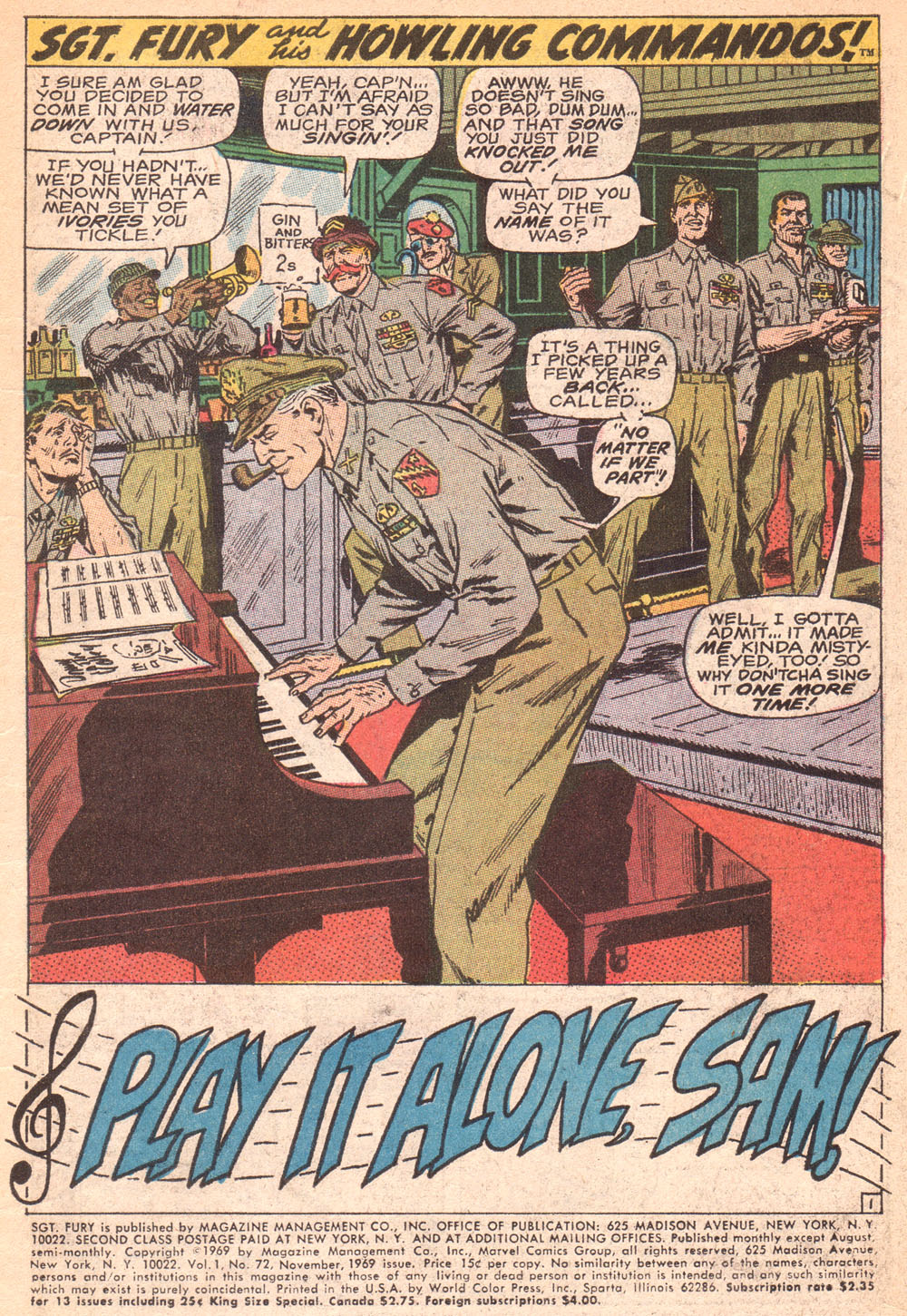 Read online Sgt. Fury comic -  Issue #72 - 3