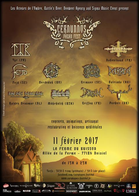 Cernunnos Pagan Festival IX @La Ferme du Buisson, Noisiel 11/02/2017