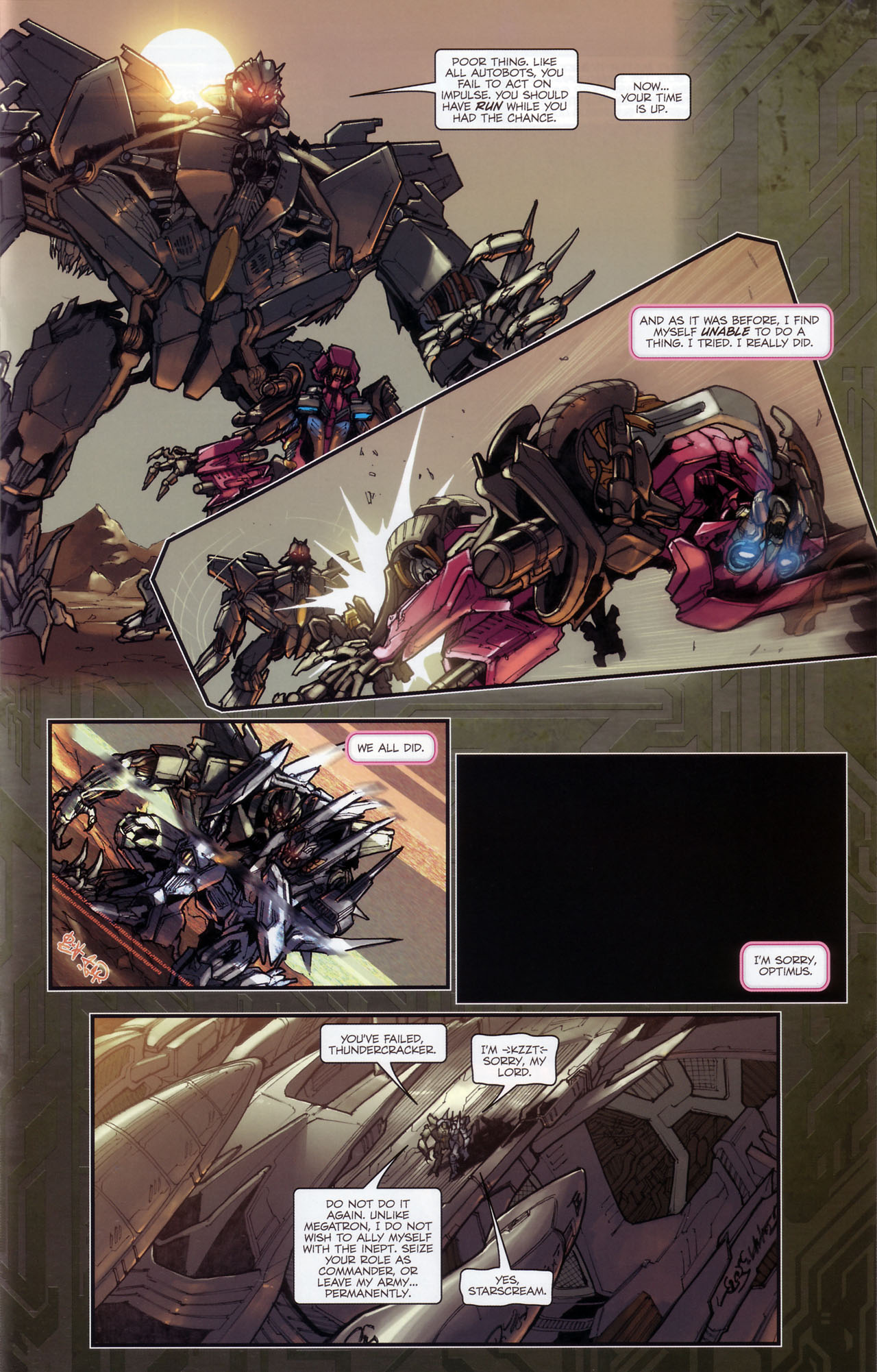 Read online Transformers: The Reign of Starscream comic -  Issue #3 - 14