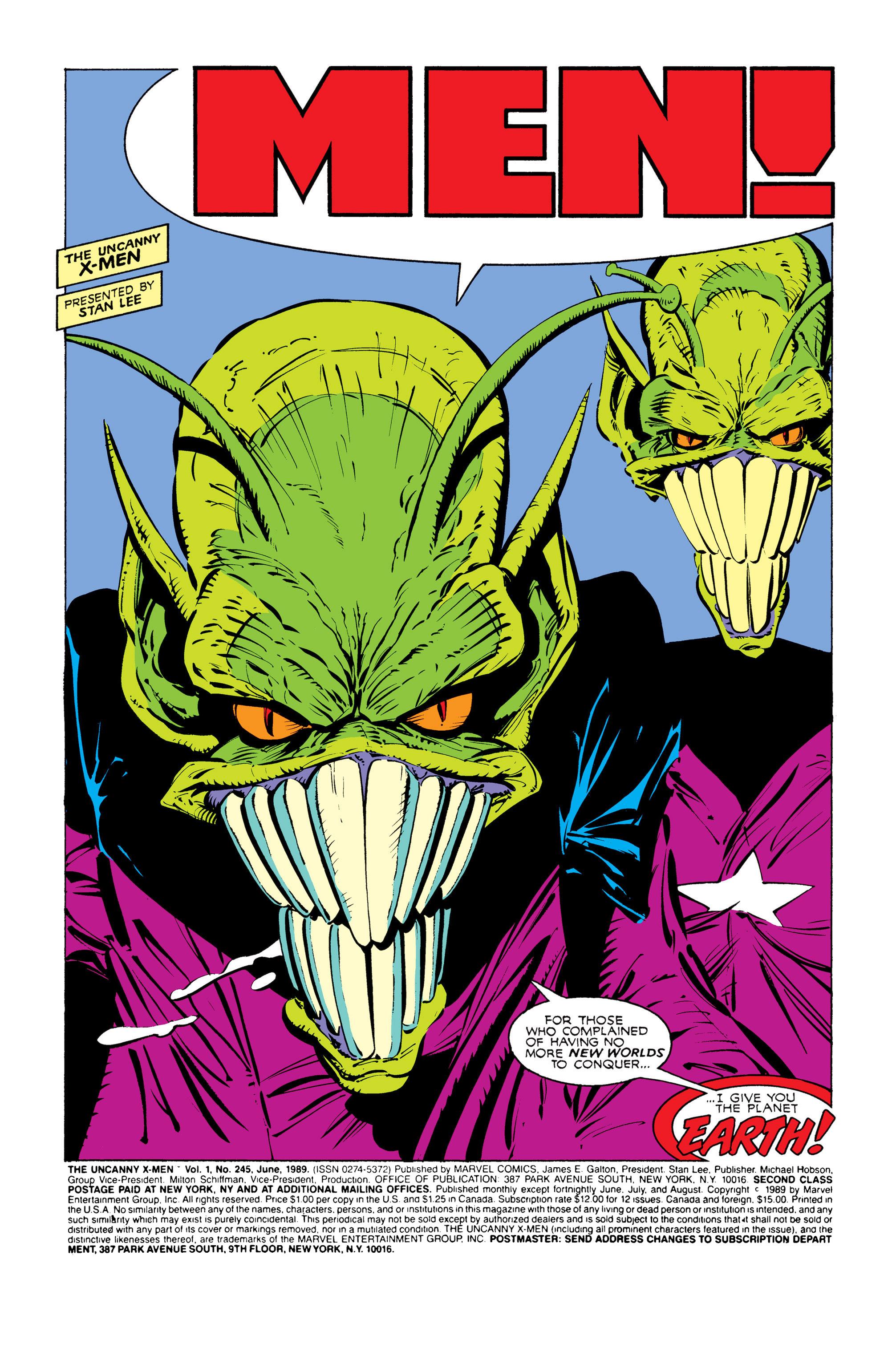 Read online Uncanny X-Men (1963) comic -  Issue #245 - 2