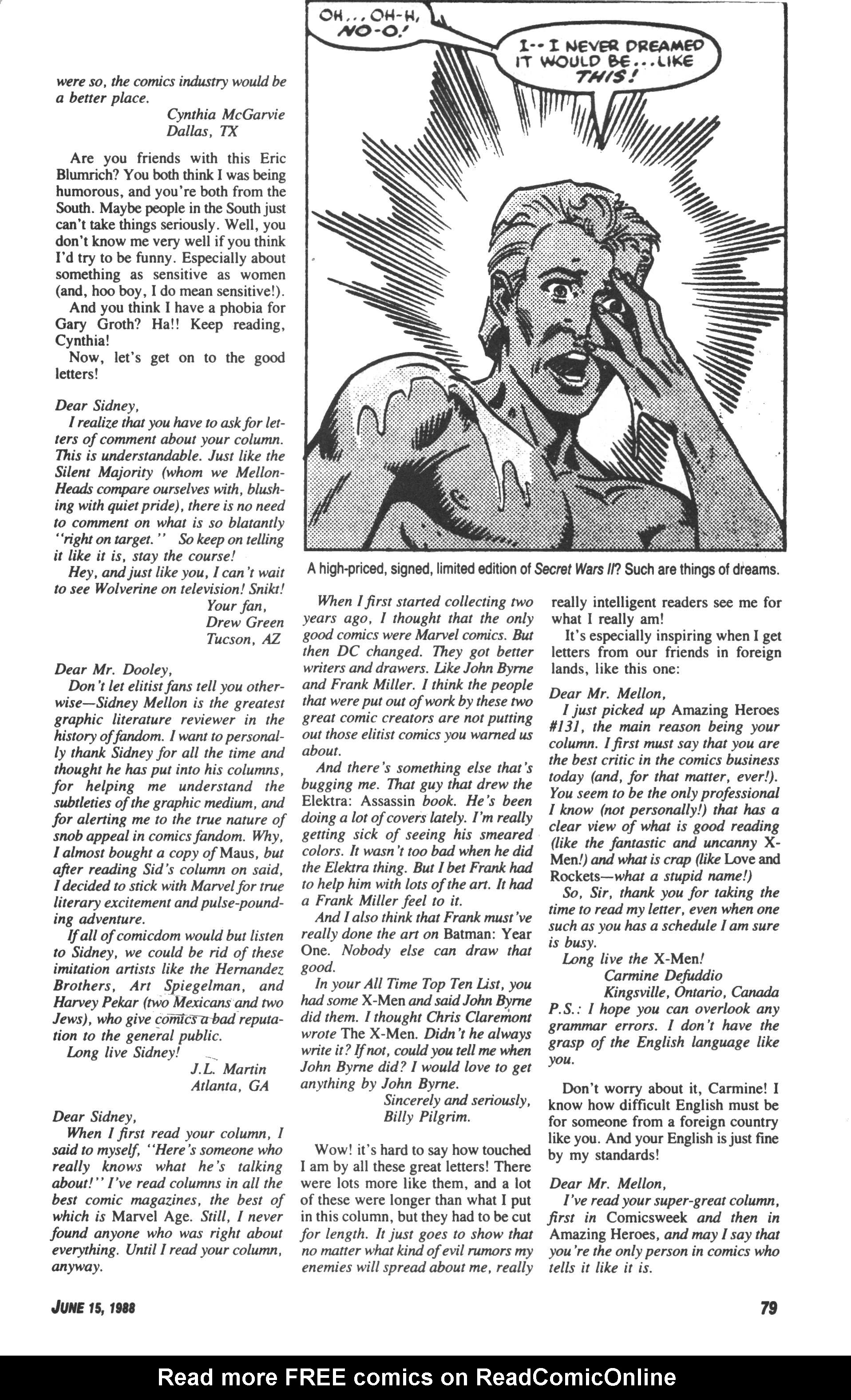 Read online Amazing Heroes comic -  Issue #143 - 79