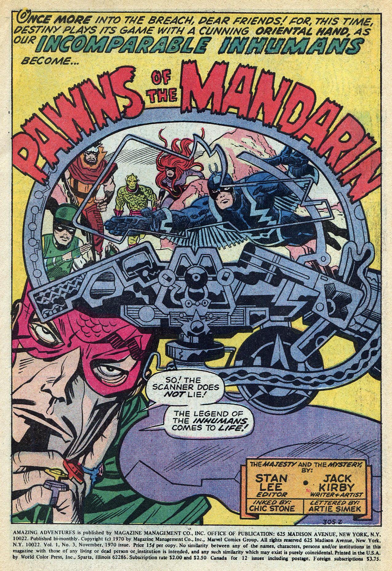Read online Amazing Adventures (1970) comic -  Issue #3 - 3