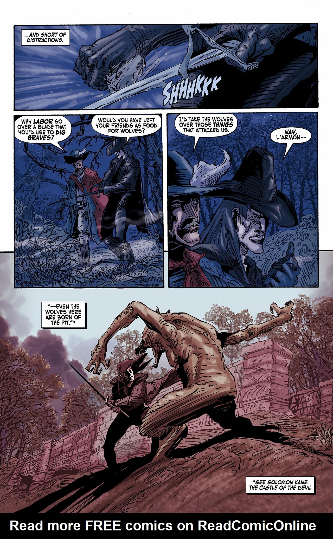 Read online Solomon Kane: Death's Black Riders comic -  Issue #2 - 4