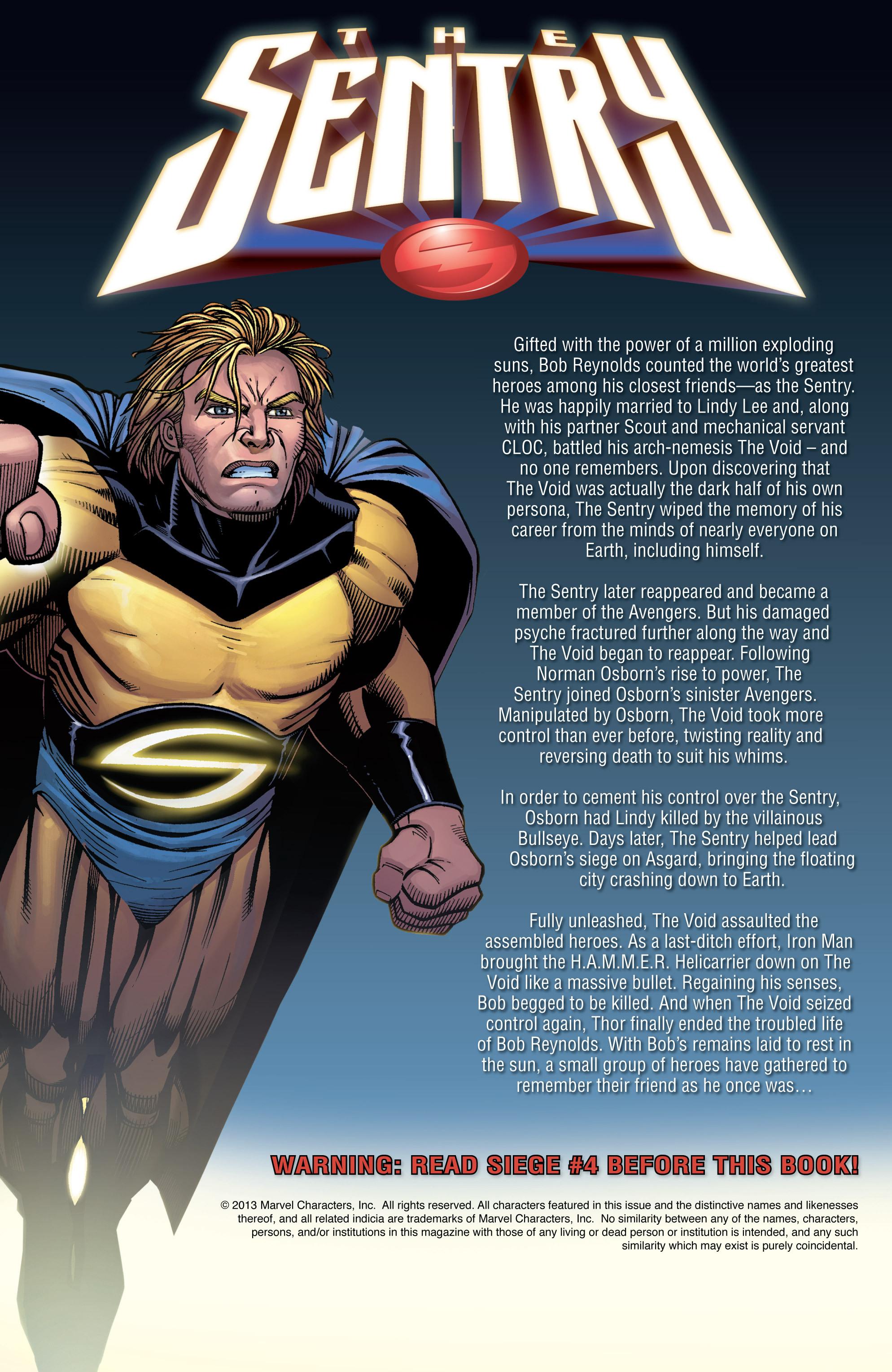 Read online Sentry: Fallen Sun comic -  Issue # Full - 2
