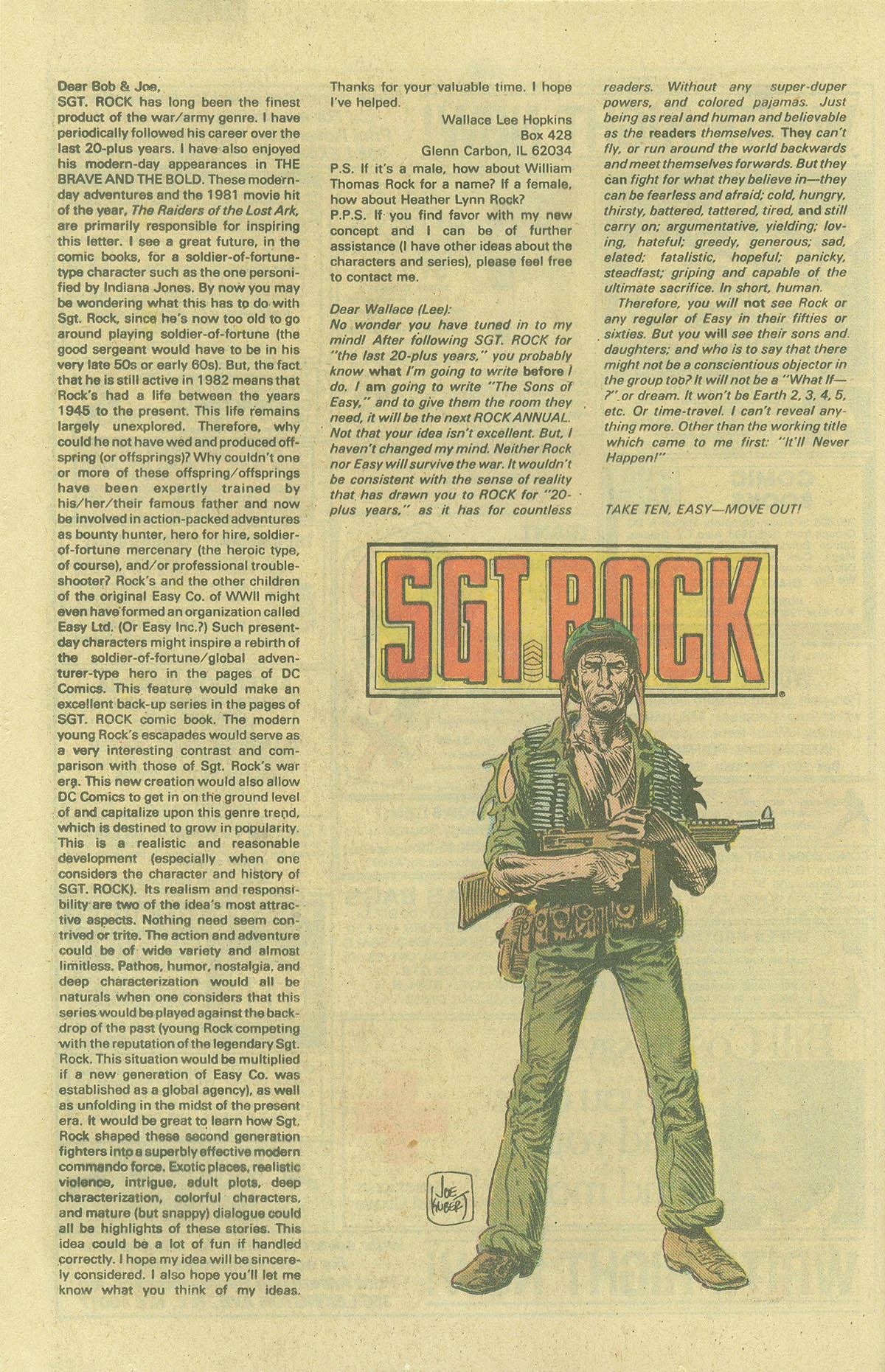 Read online Sgt. Rock comic -  Issue #394 - 22