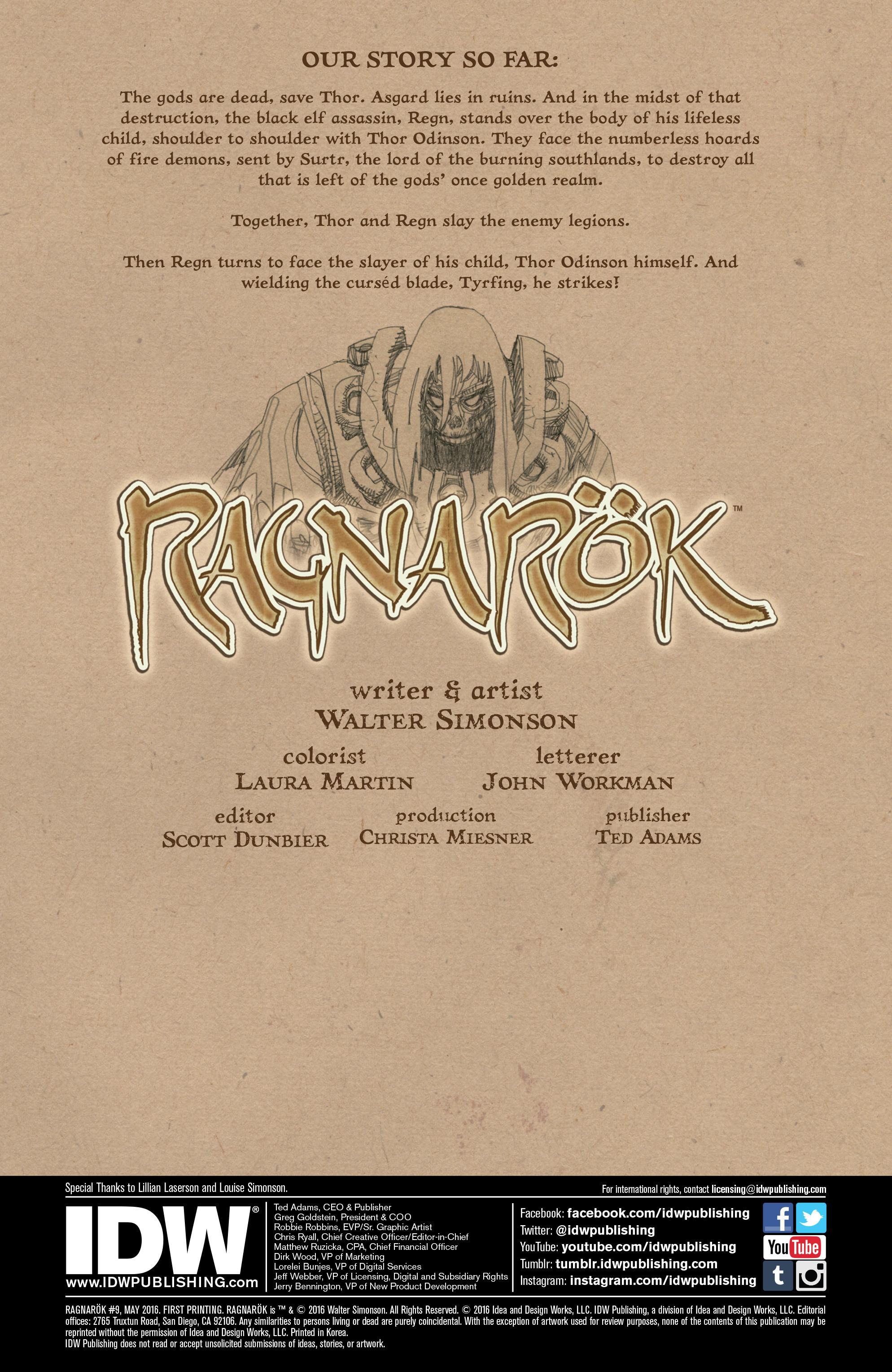 Read online Ragnarok comic -  Issue #9 - 2