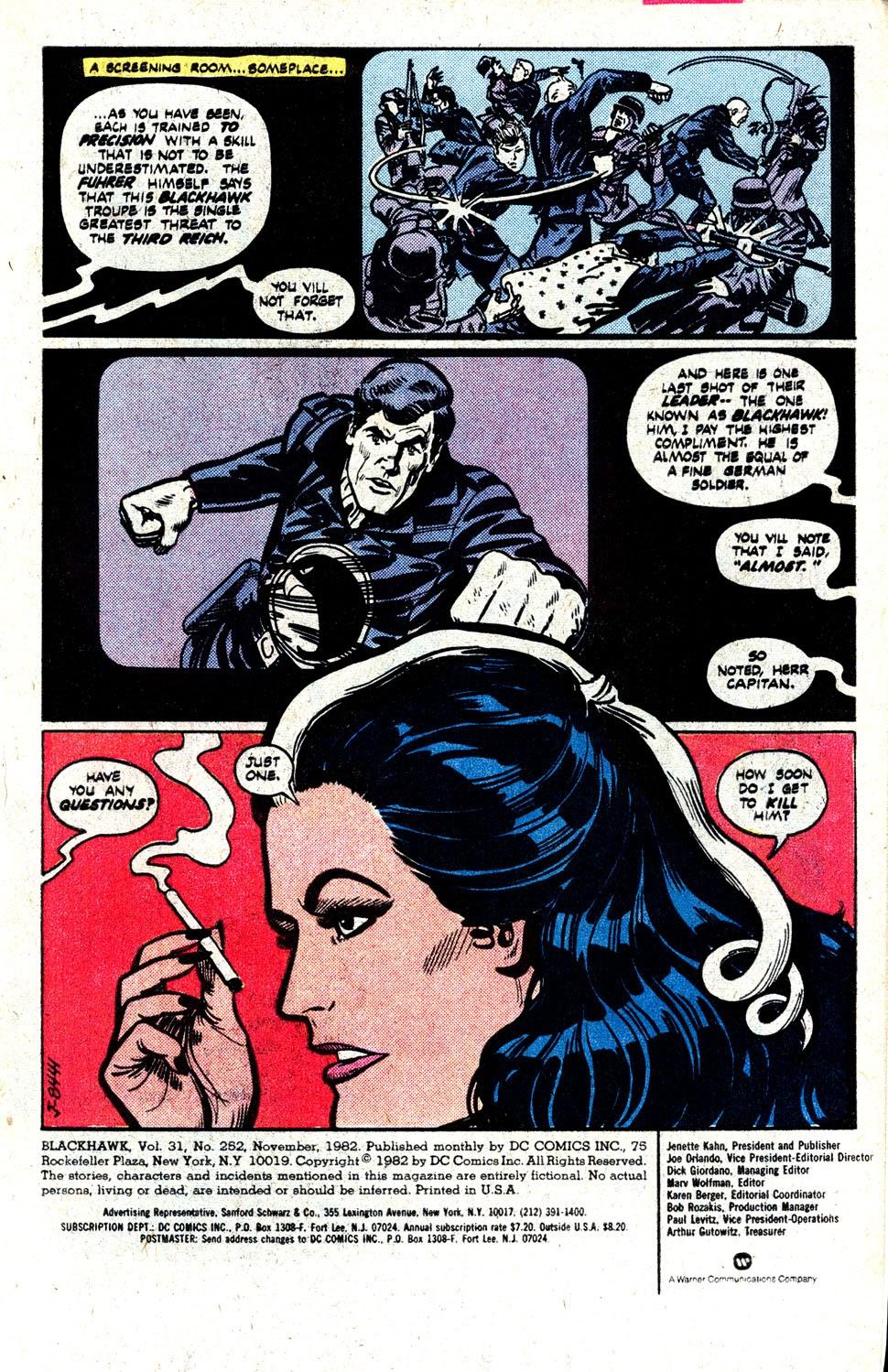 Read online Blackhawk (1957) comic -  Issue #252 - 3