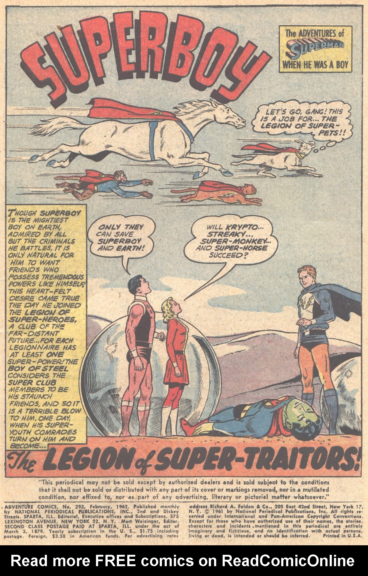 Read online Adventure Comics (1938) comic -  Issue #293 - 3