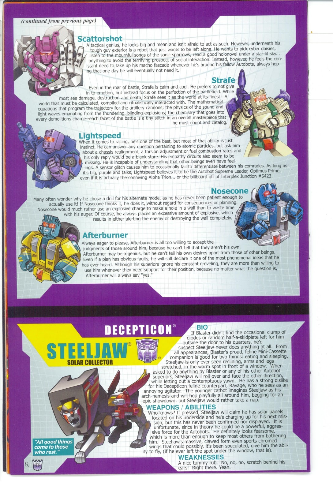 Read online Transformers: Collectors' Club comic -  Issue #27 - 8