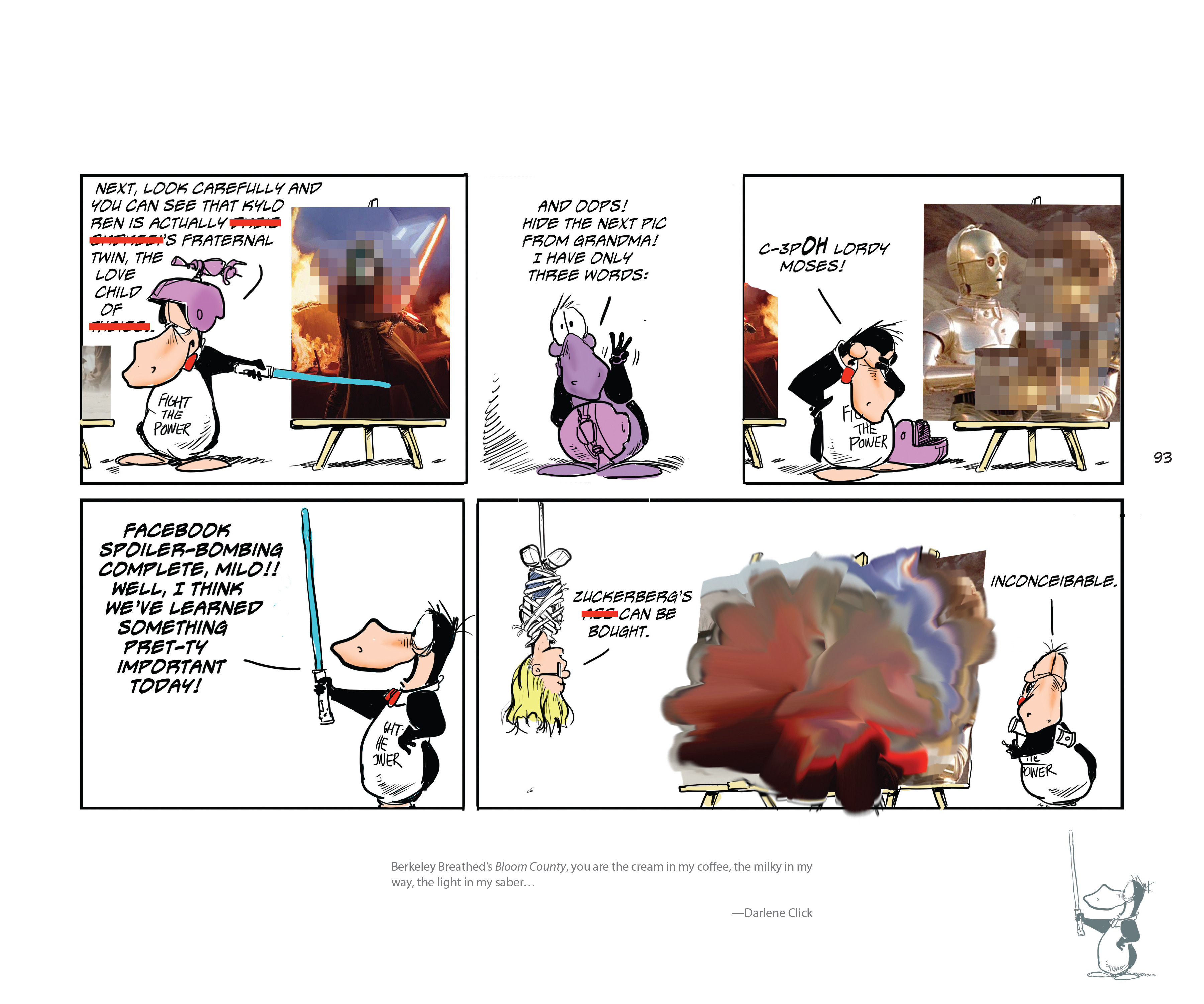 Read online Bloom County Episode XI: A New Hope comic -  Issue # Full - 95