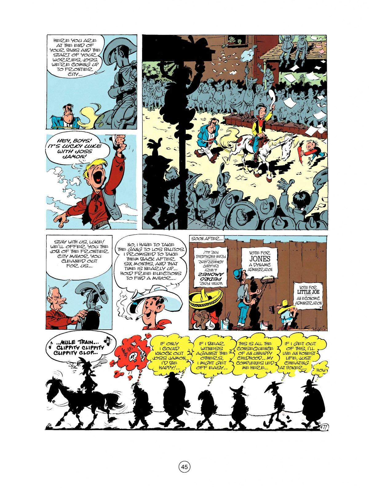 Read online A Lucky Luke Adventure comic -  Issue #27 - 46