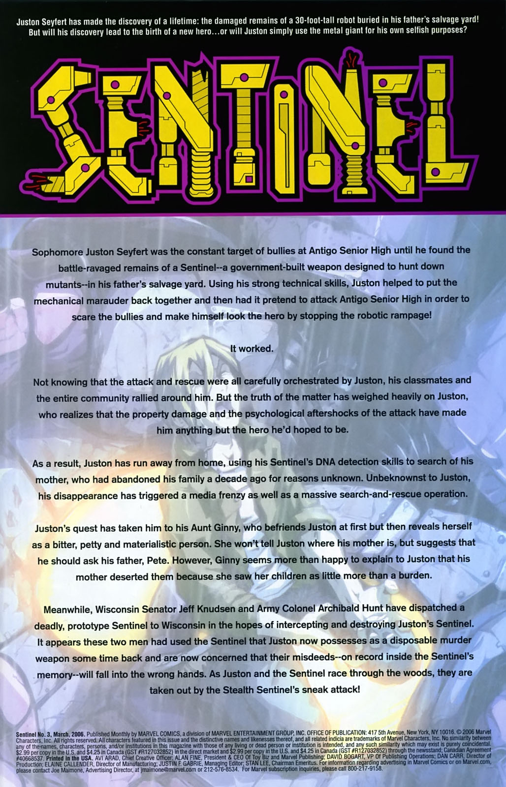 Read online Sentinel (2006) comic -  Issue #3 - 2