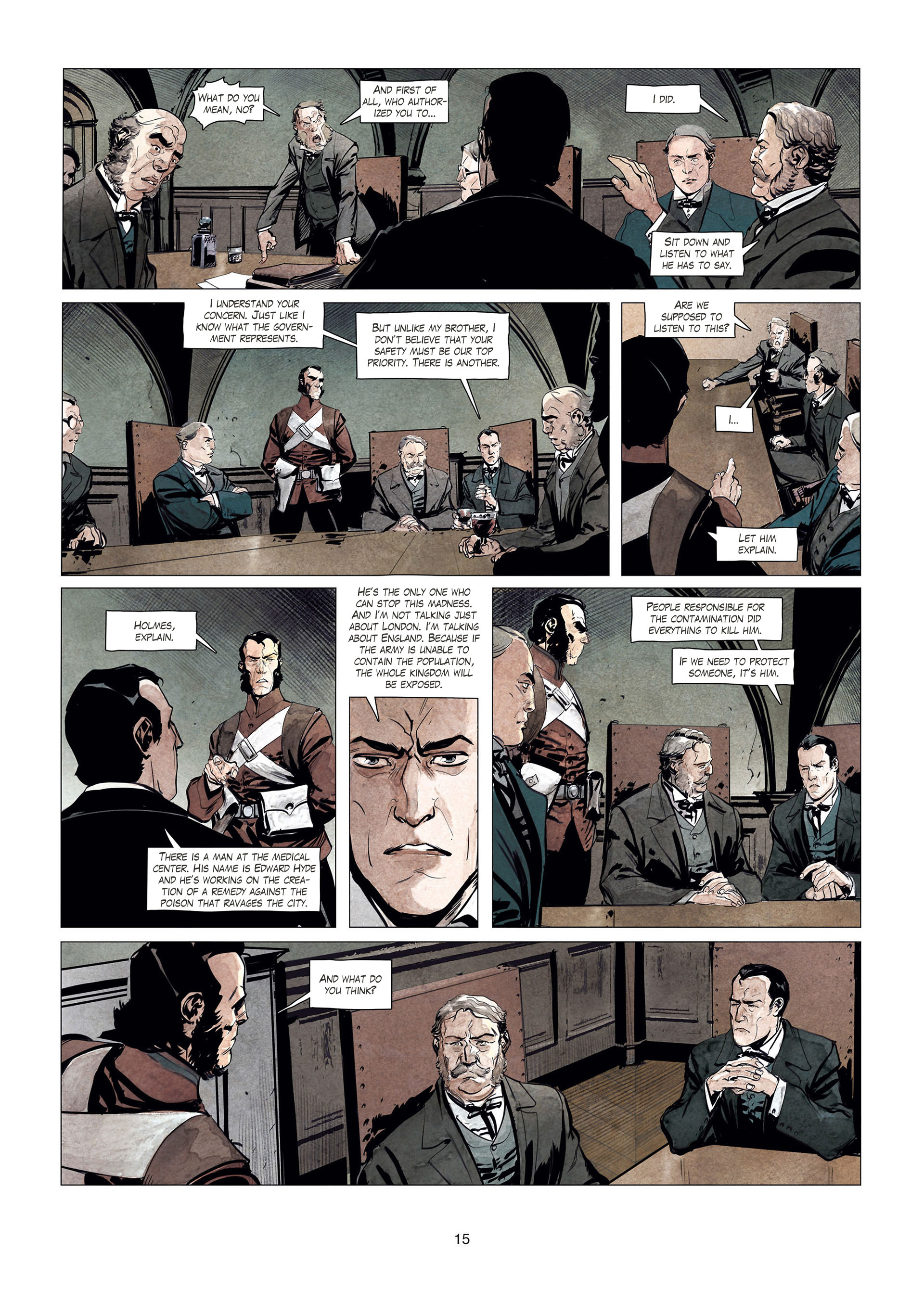 Read online Sherlock Holmes Society Tome 4 : Contamination comic -  Issue # Full - 15