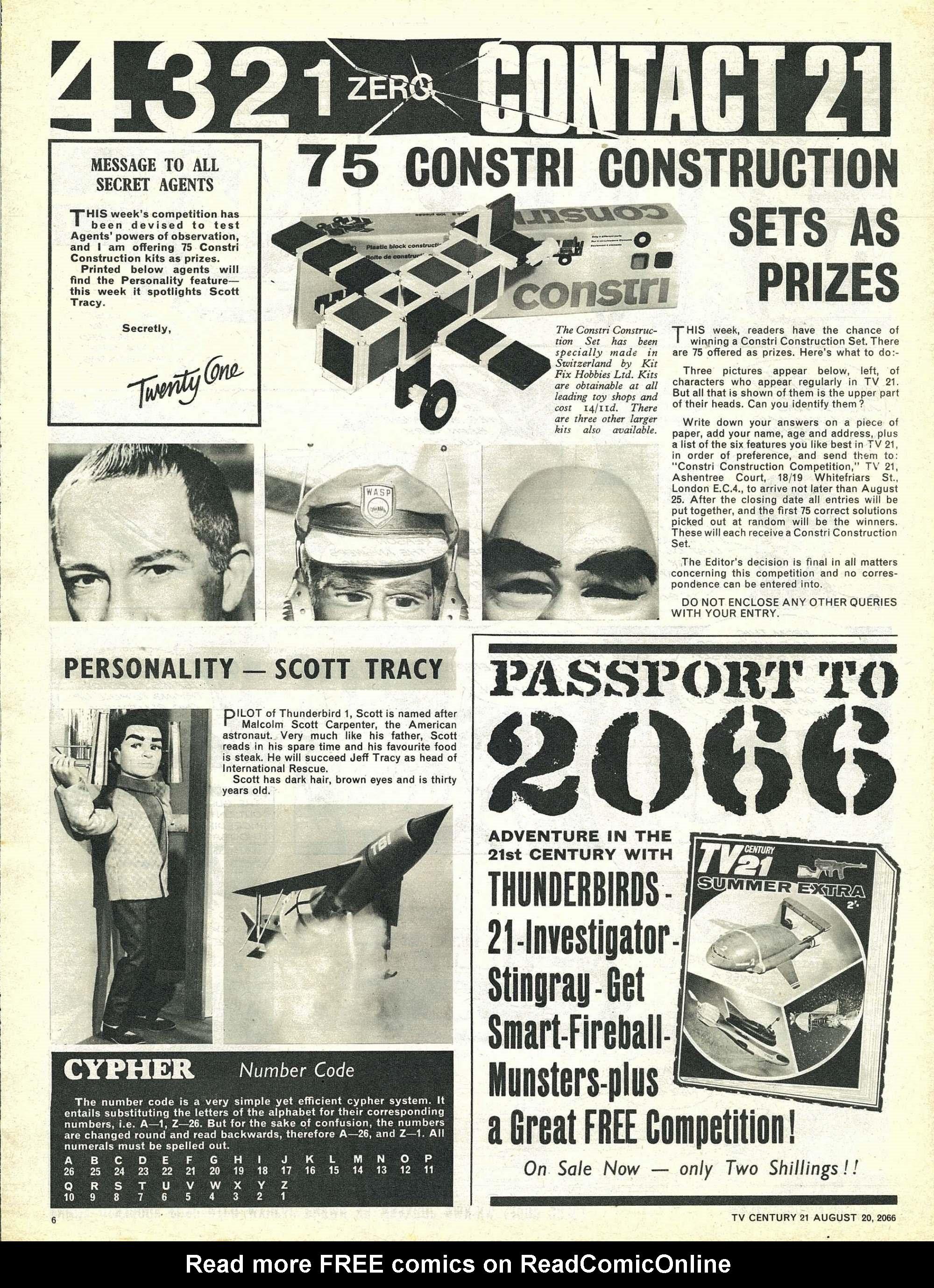 Read online TV Century 21 (TV 21) comic -  Issue #83 - 6