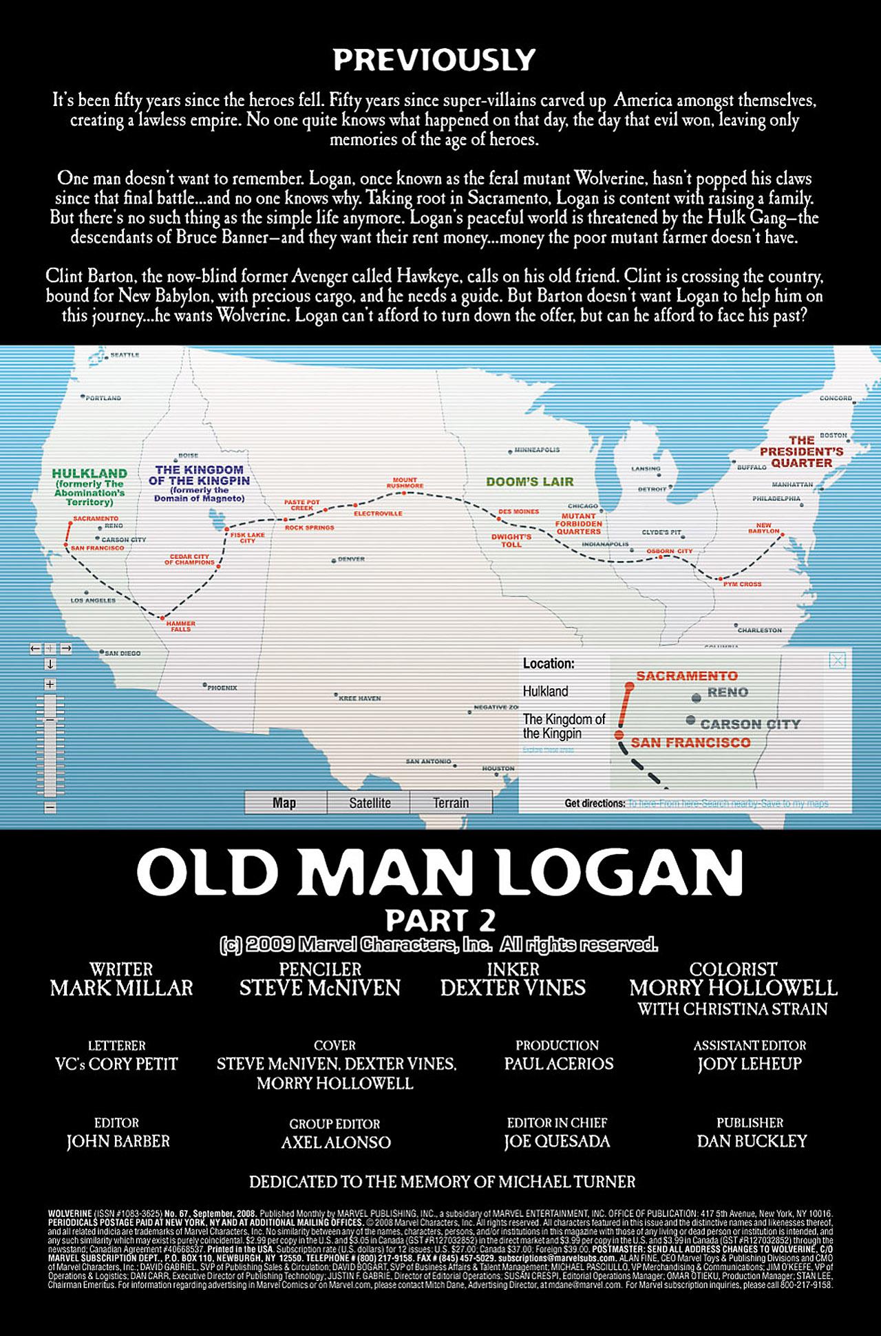 Read online Wolverine: Old Man Logan comic -  Issue # Full - 26
