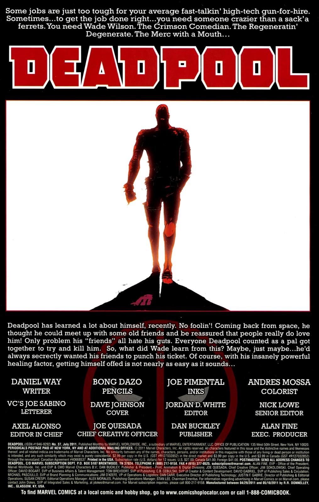 Read online Deadpool (2008) comic -  Issue #37 - 2