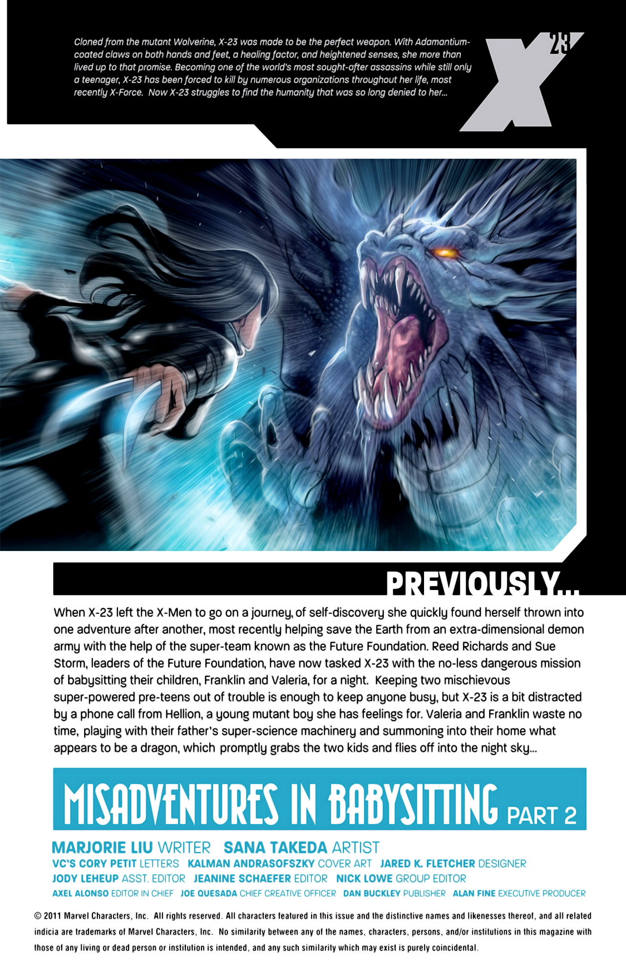 Read online X-23 (2010) comic -  Issue #18 - 2
