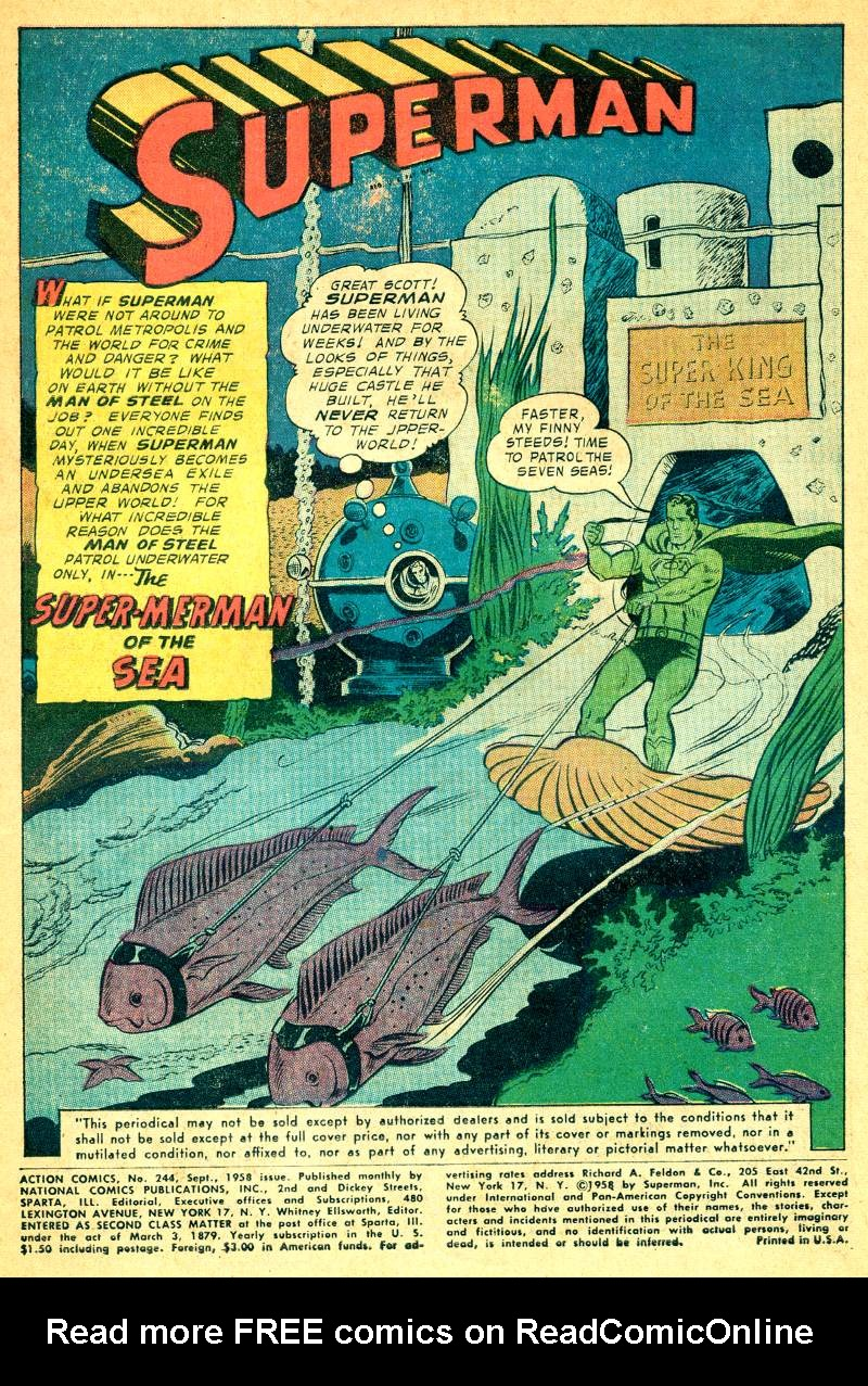Read online Action Comics (1938) comic -  Issue #244 - 3