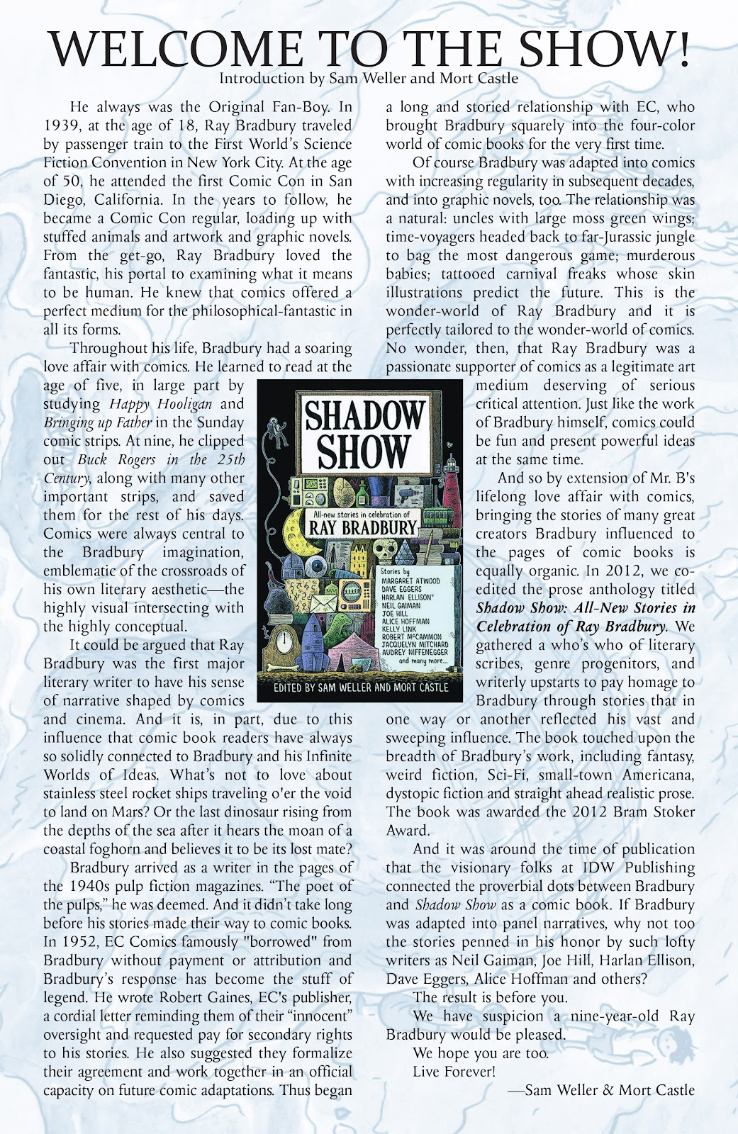 Read online Shadow Show: Stories in Celebration of Ray Bradbury comic -  Issue #1 - 3