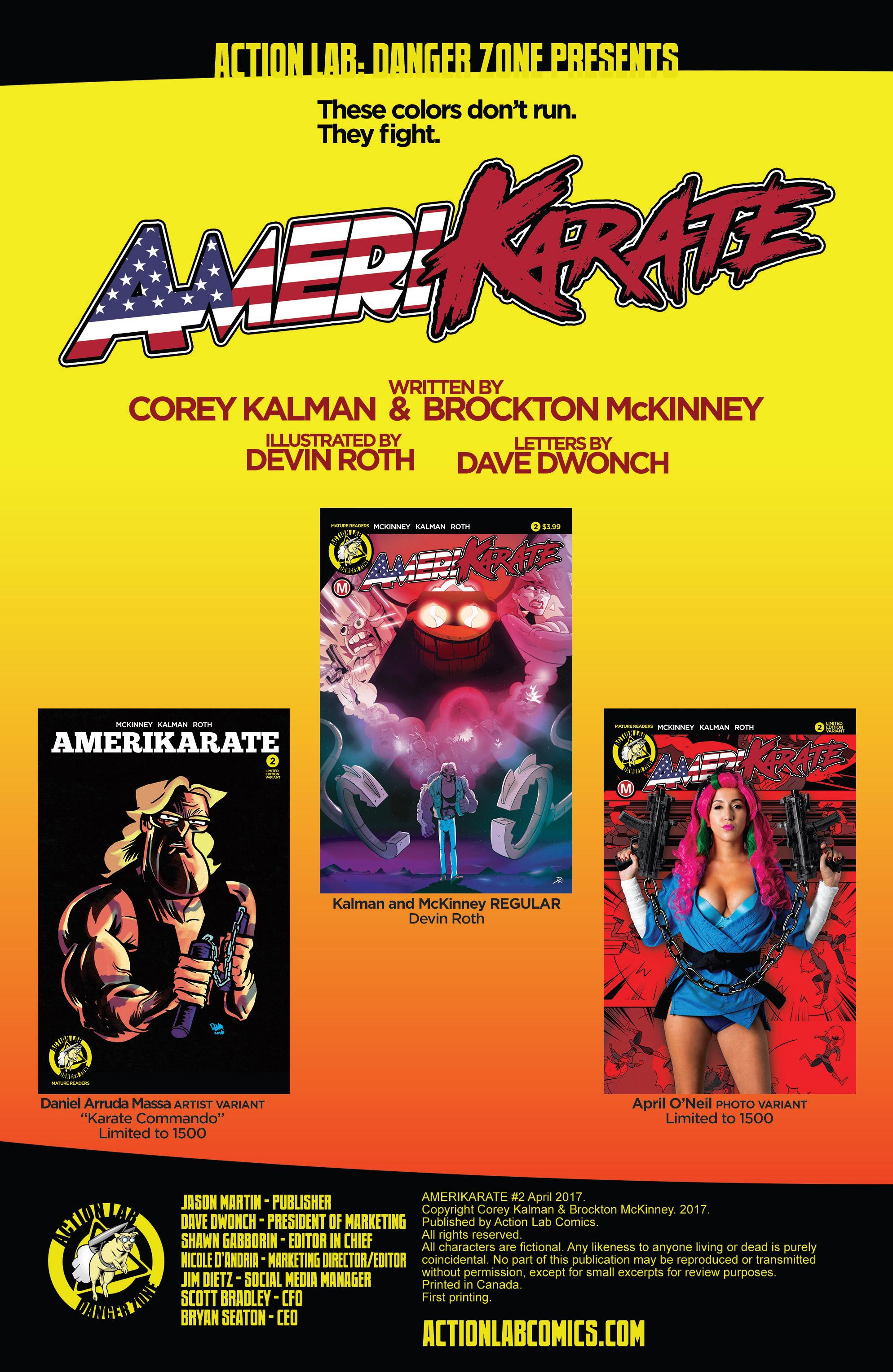 Read online AmeriKarate comic -  Issue #2 - 2