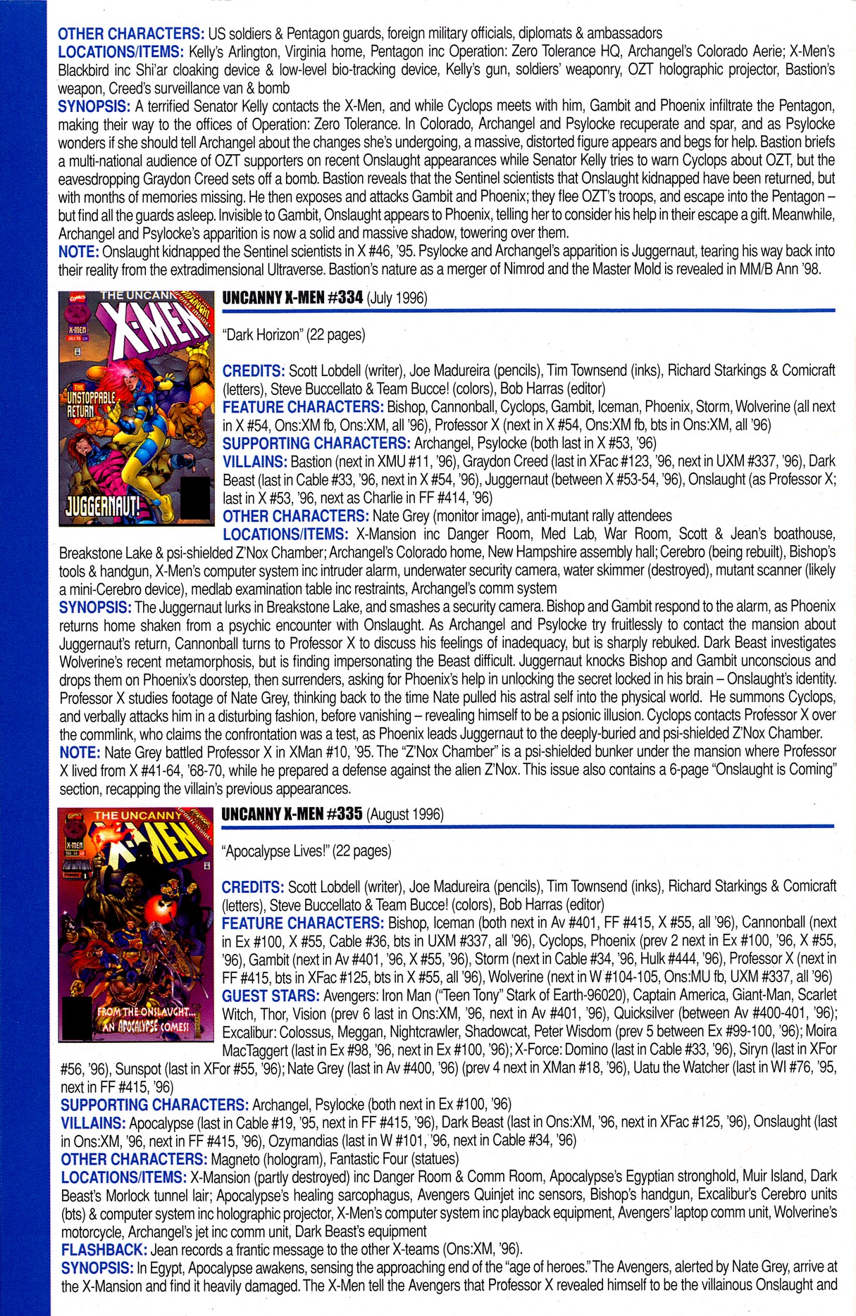 Read online Official Index to the Marvel Universe comic -  Issue #8 - 64