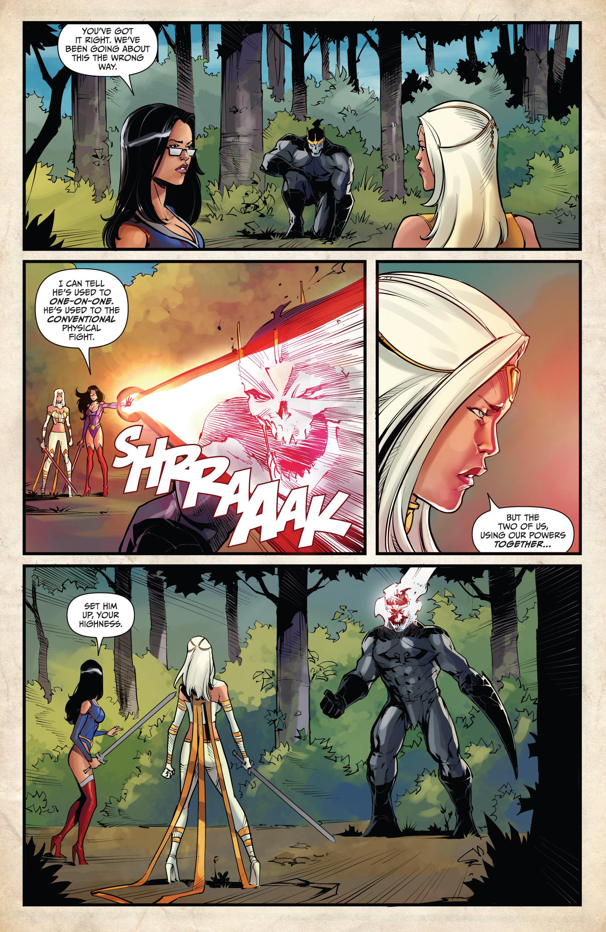 Read online Grimm Fairy Tales vs. Wonderland comic -  Issue #4 - 16