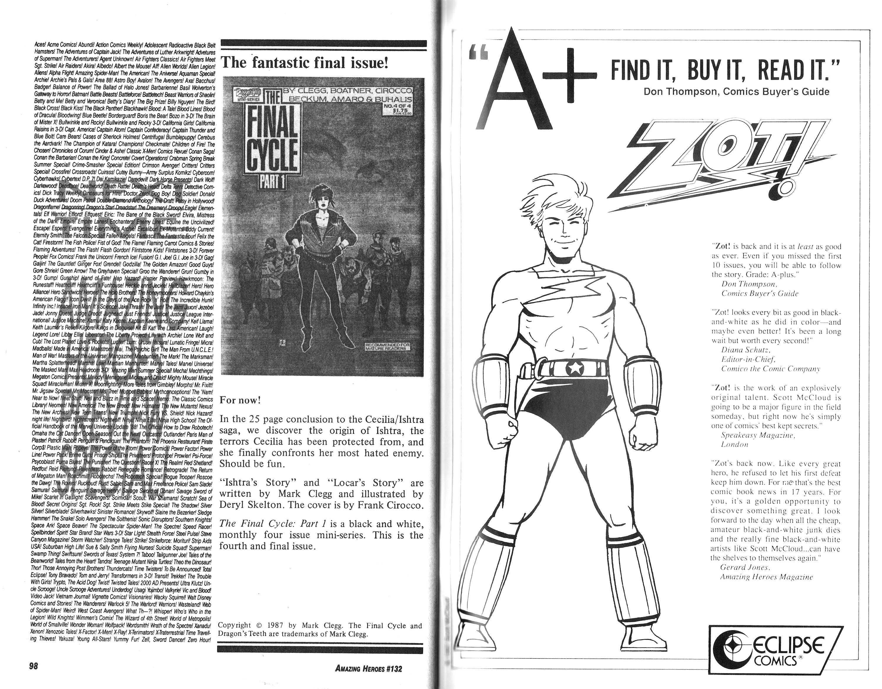 Read online Amazing Heroes comic -  Issue #132 - 50
