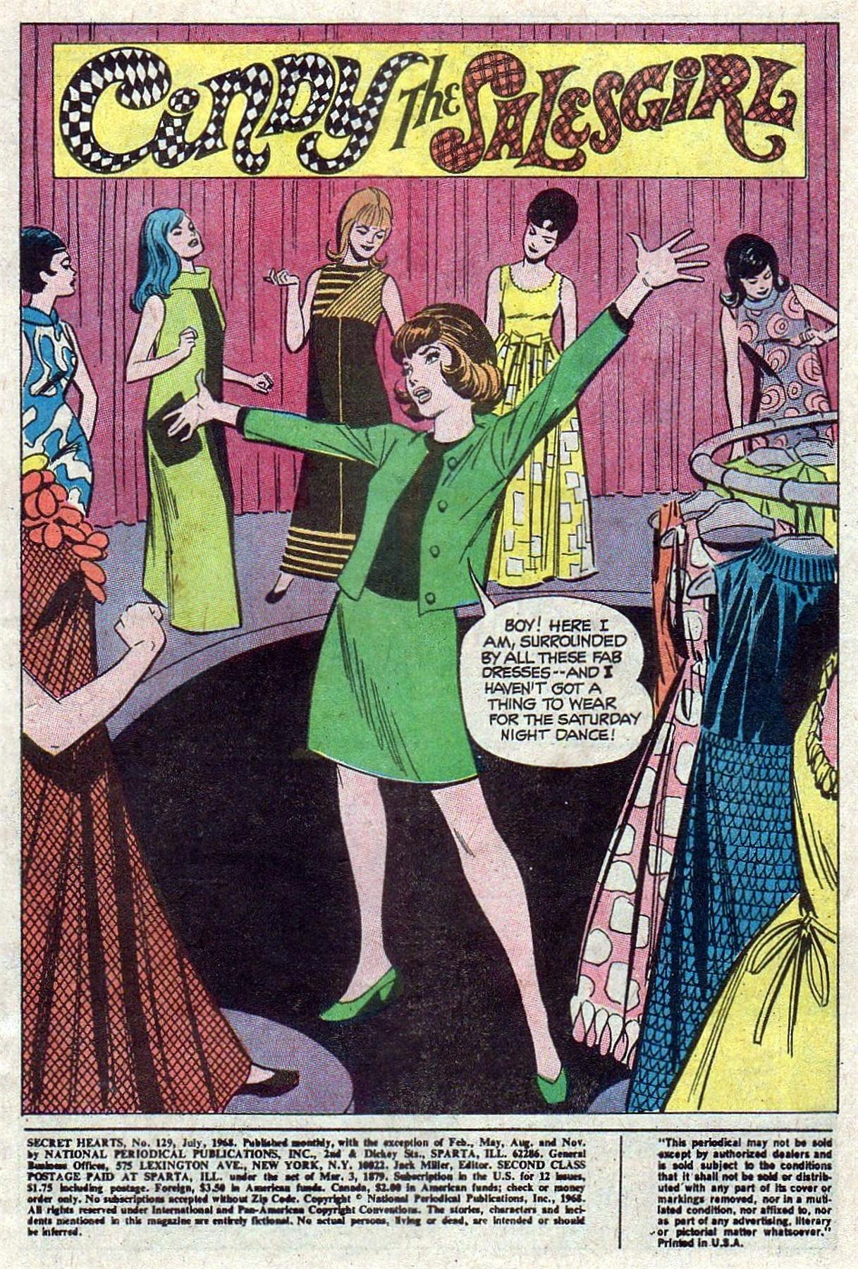 Read online Secret Hearts comic -  Issue #129 - 3
