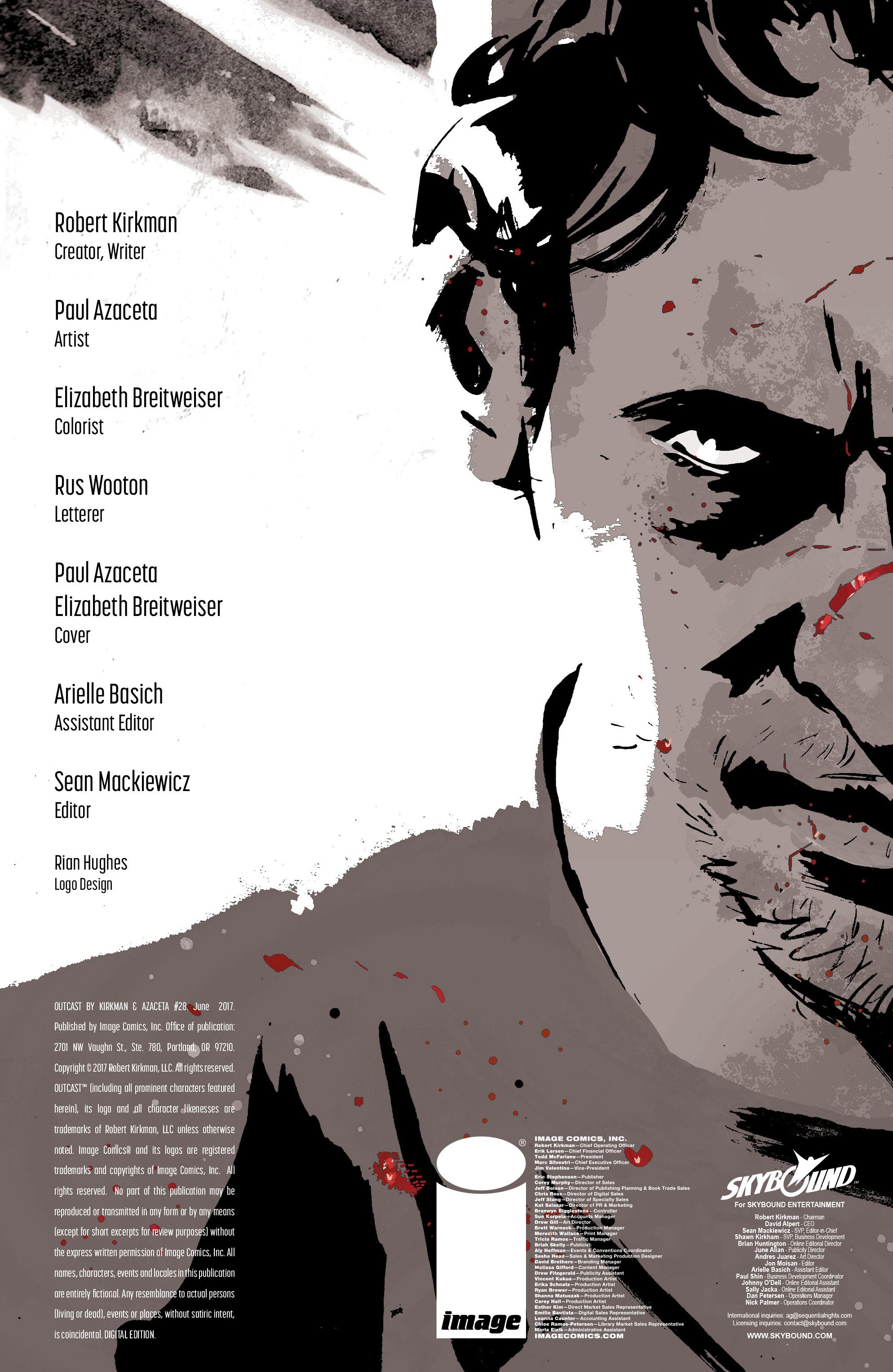 Read online Outcast by Kirkman & Azaceta comic -  Issue #28 - 2