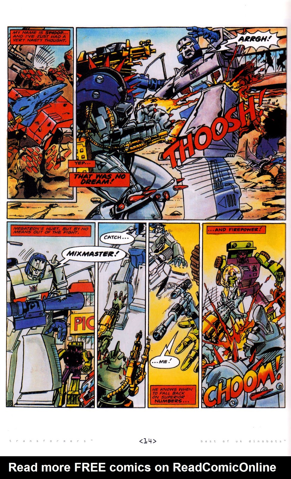 Read online The Transformers: Best of UK: Dinobots comic -  Issue #5 - 16