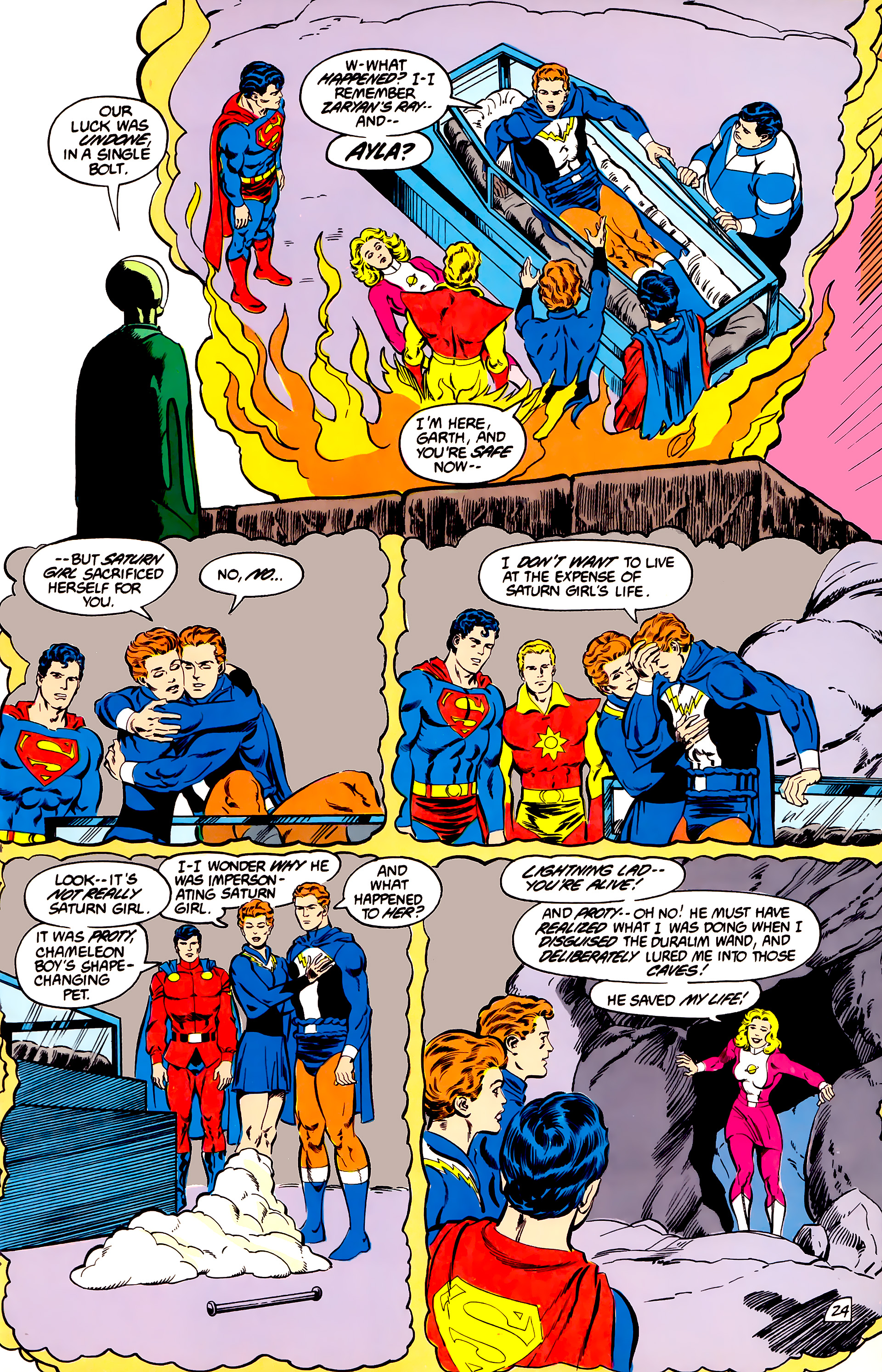 Legion of Super-Heroes (1984) 45 Page 24
