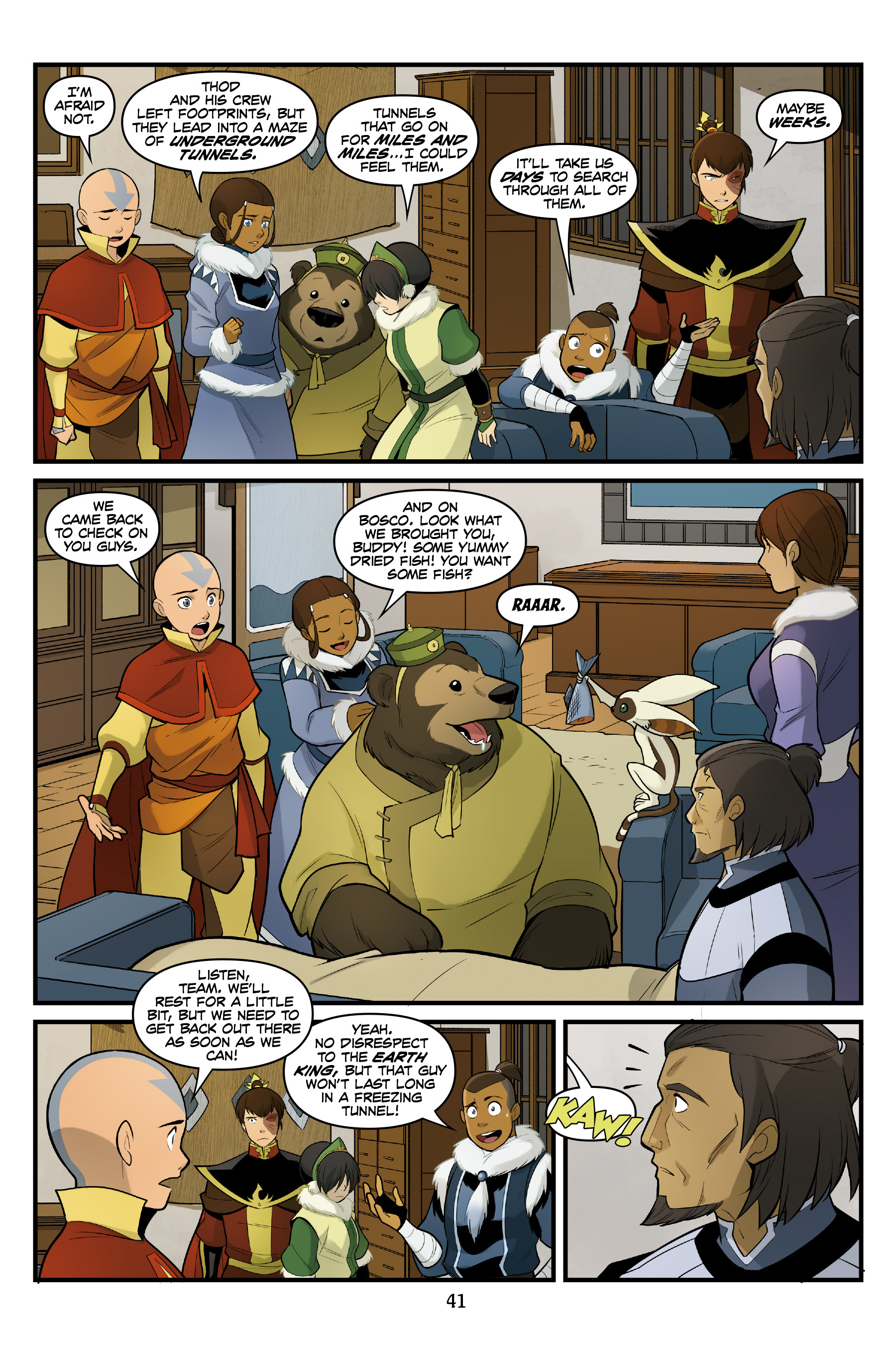 Read online Nickelodeon Avatar: The Last Airbender - North and South comic -  Issue #3 - 41
