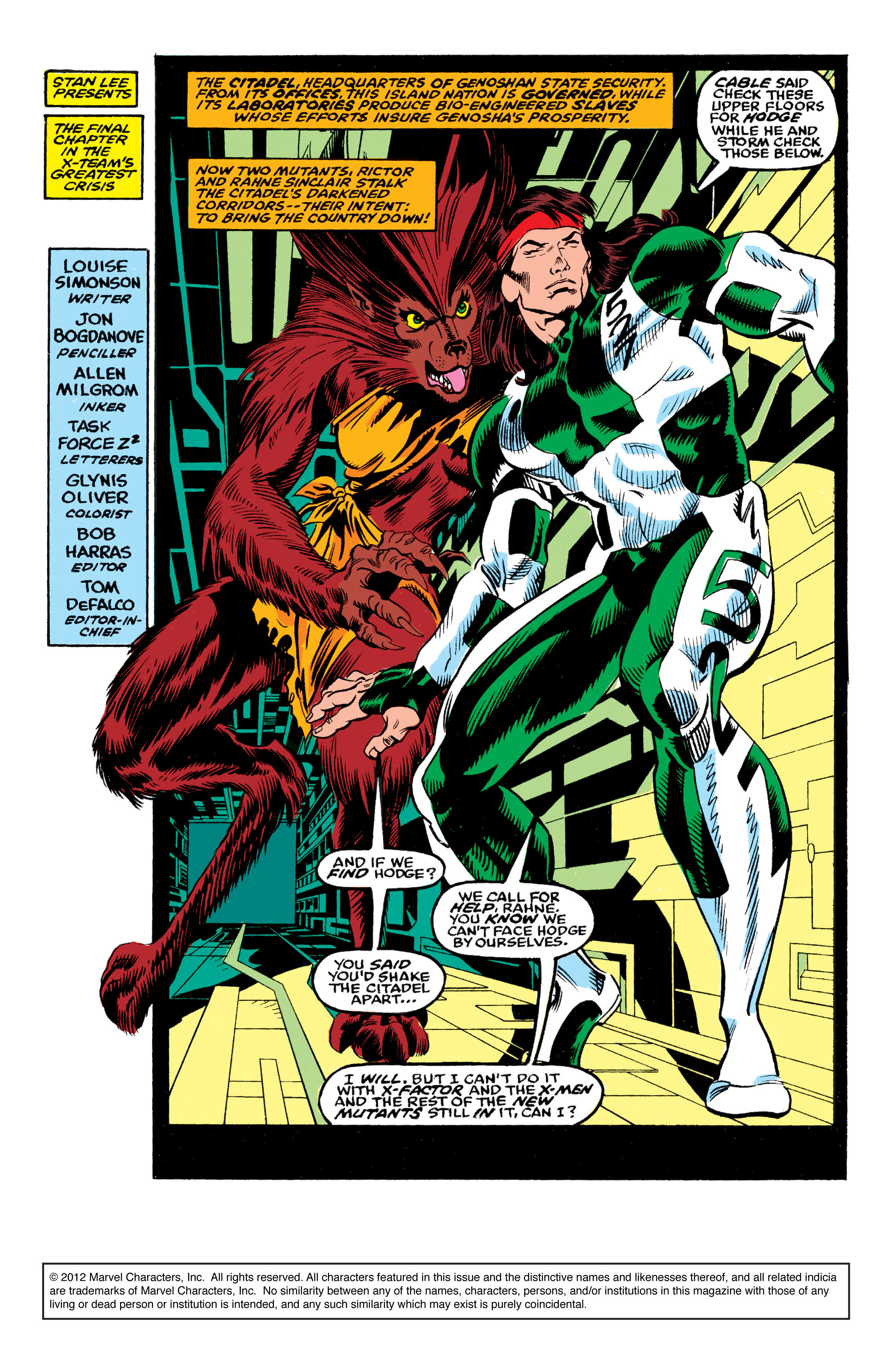 Read online X-Factor (1986) comic -  Issue #62 - 2
