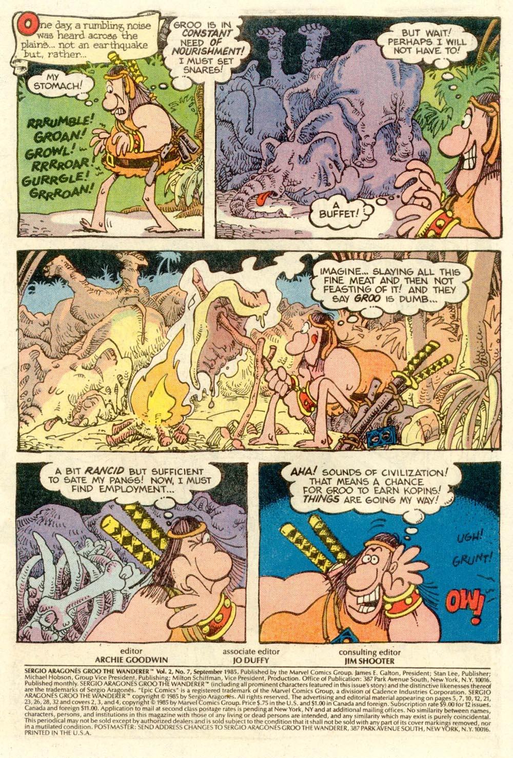 Read online Sergio Aragonés Groo the Wanderer comic -  Issue #7 - 2