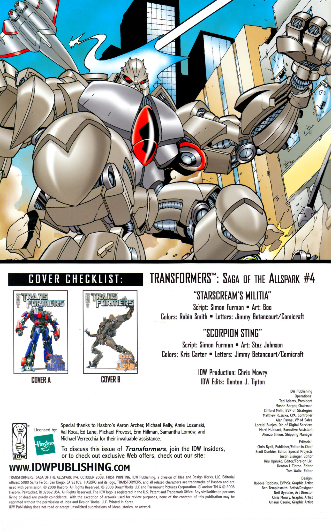 Read online Transformers: Saga of the Allspark comic -  Issue #4 - 3
