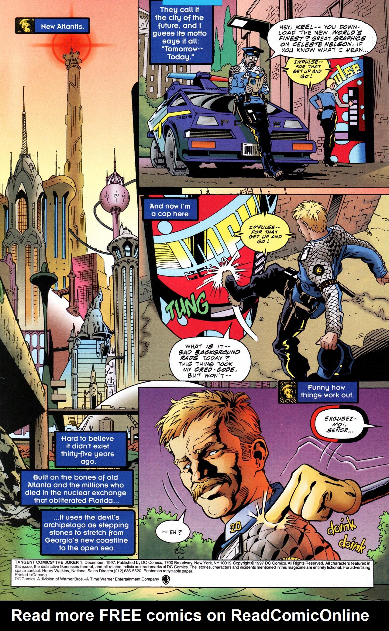 Read online Tangent Comics/ The Joker comic -  Issue # Full - 2