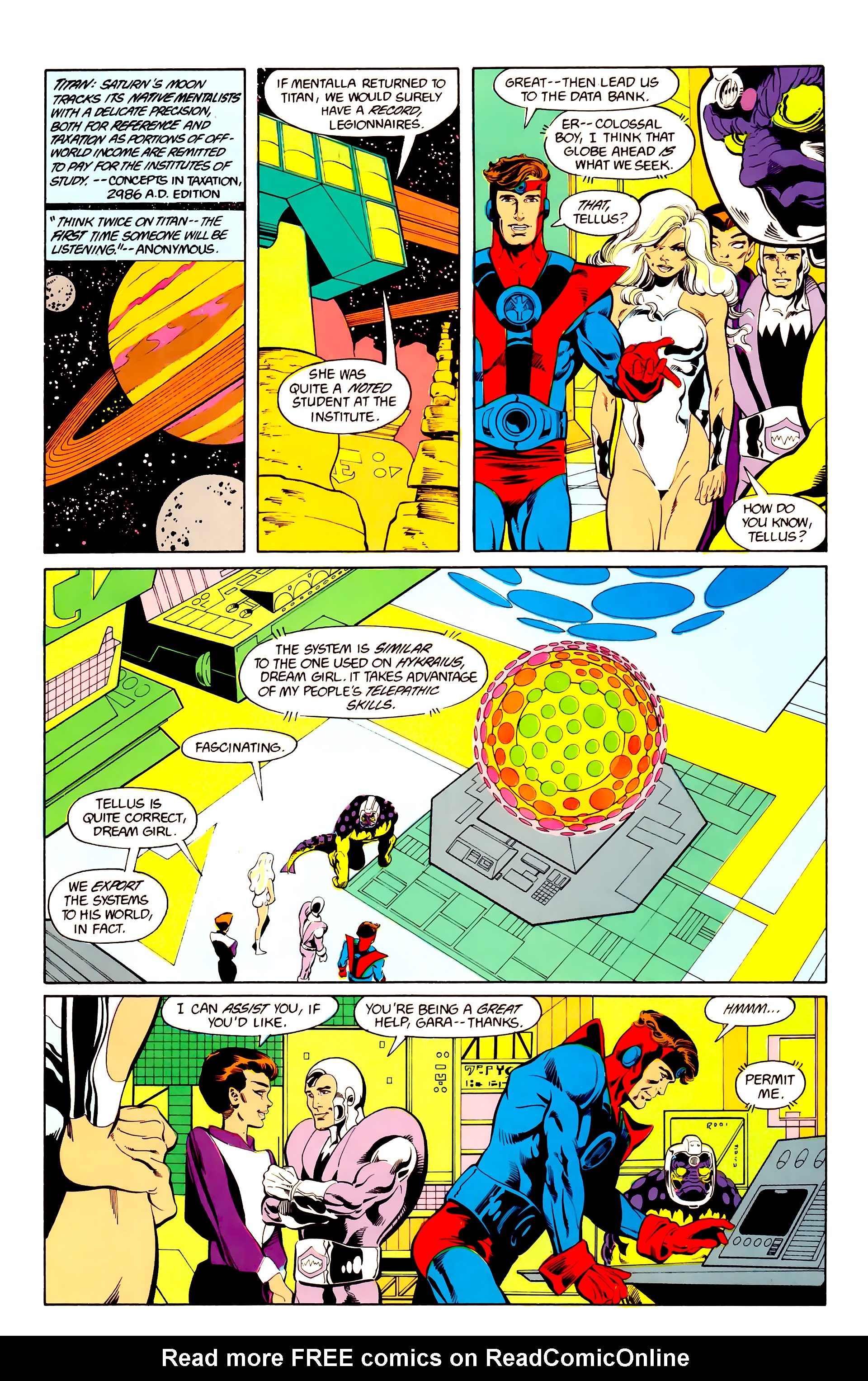 Legion of Super-Heroes (1984) 25 Page 9