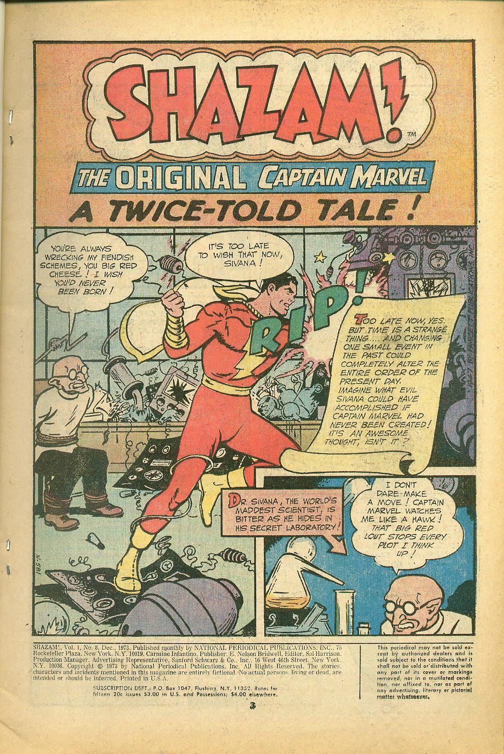 Read online Shazam! (1973) comic -  Issue #8 - 3