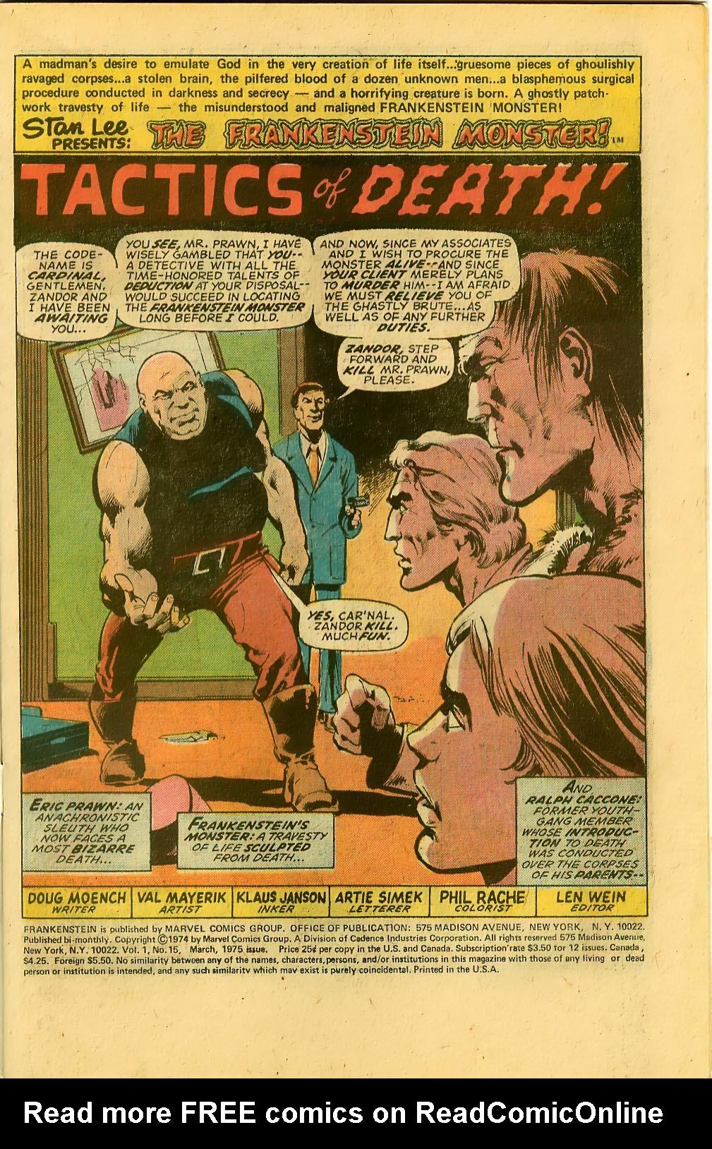 Frankenstein (1973) 15 Page 2