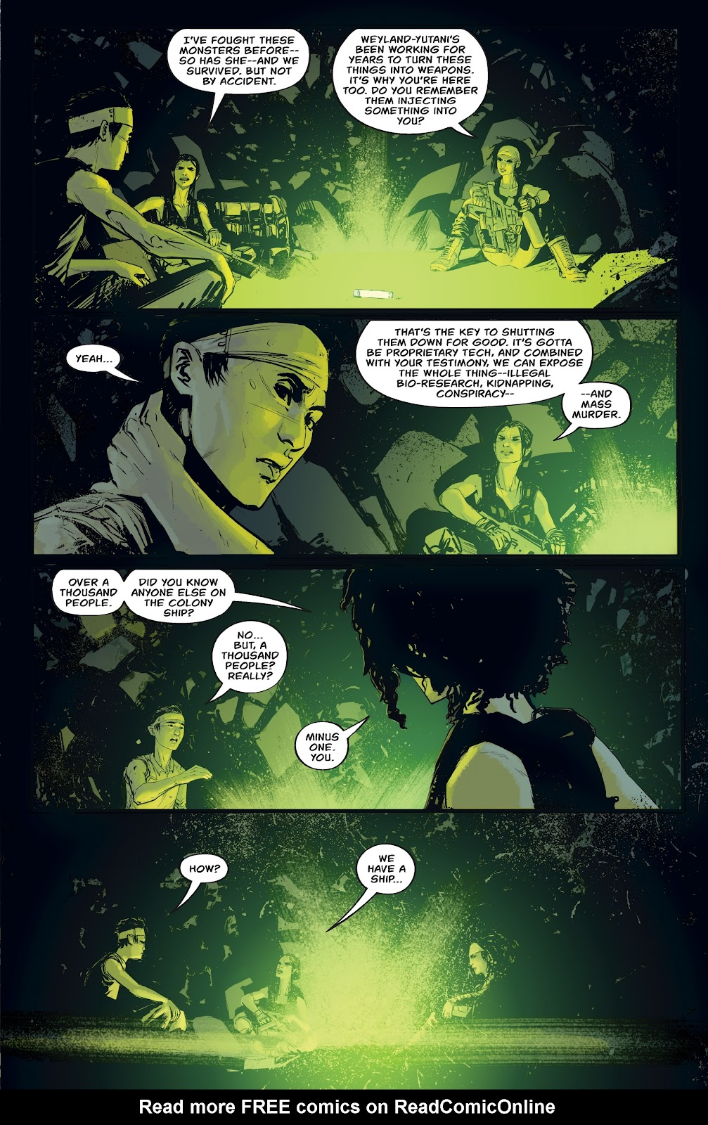 Read online Aliens: Resistance comic -  Issue #4 - 11